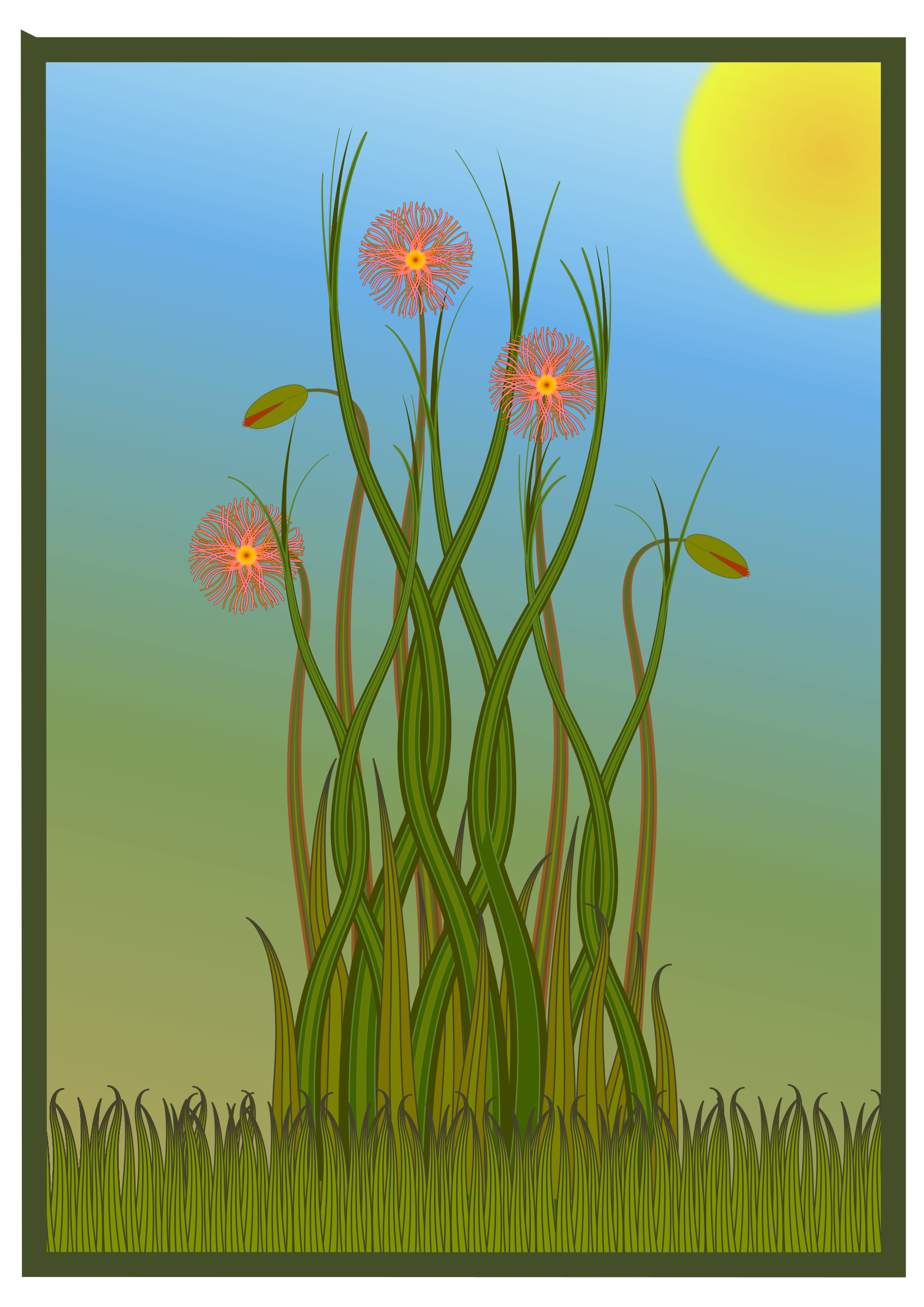 Grass and Flowers by Greg.M