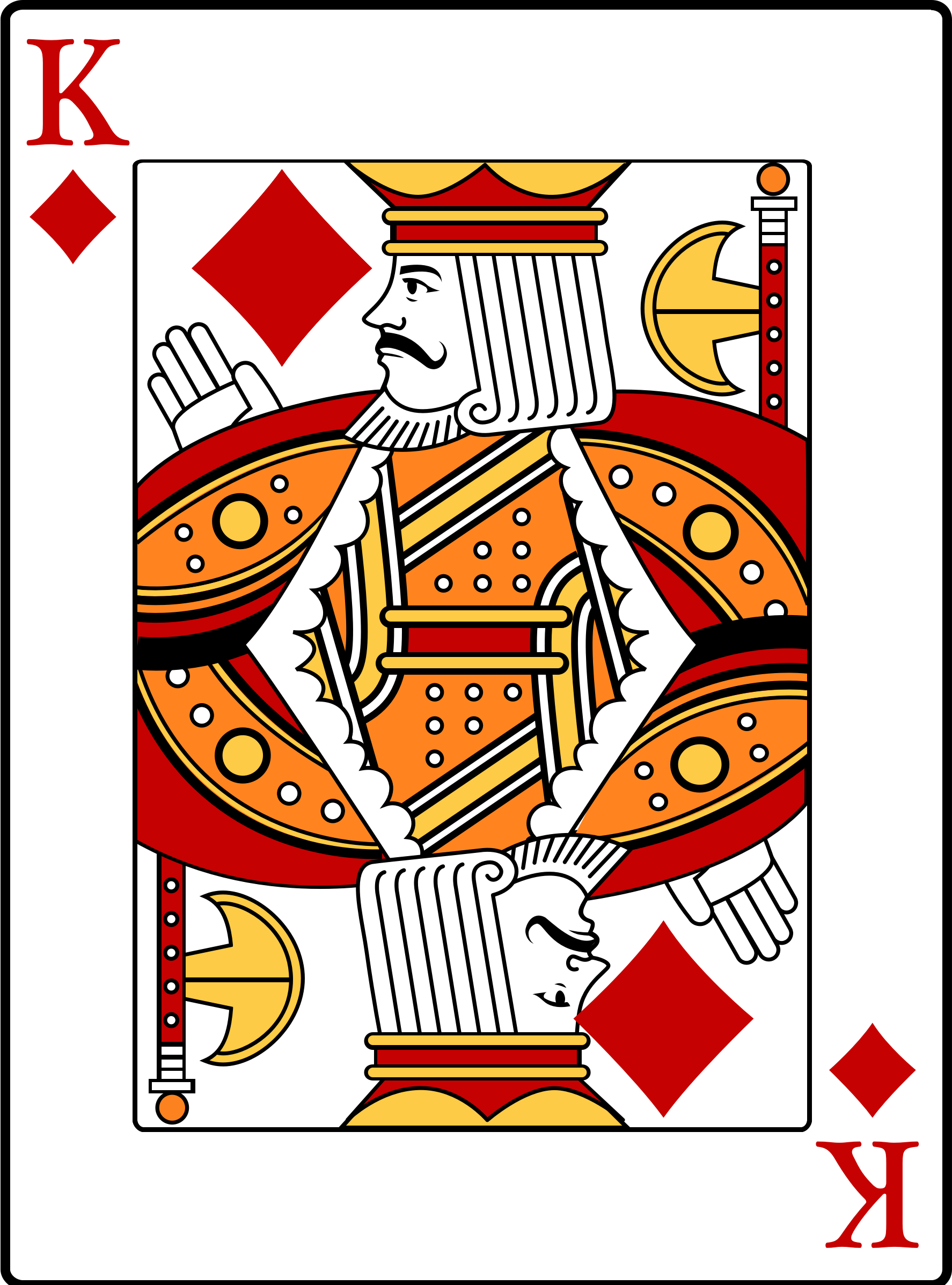 Clipart - King of Diamonds