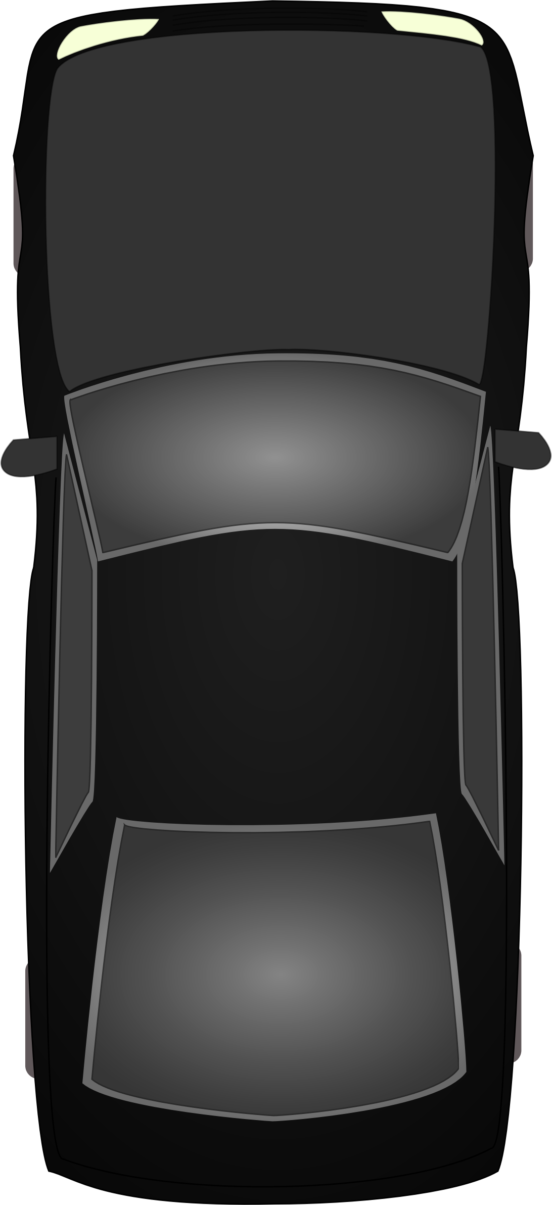 Black car topview by ckhoo