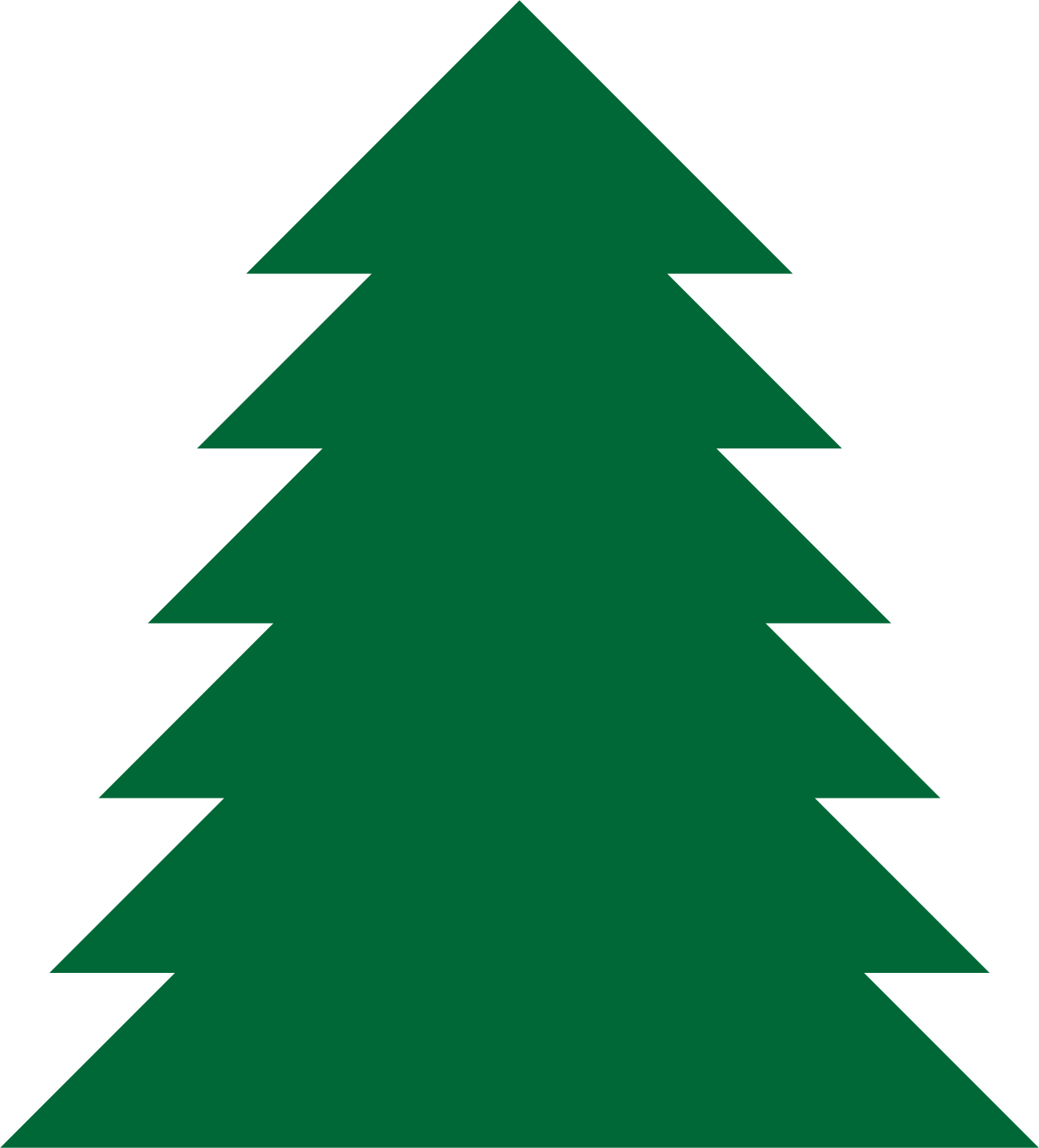 clipart a simple green tree