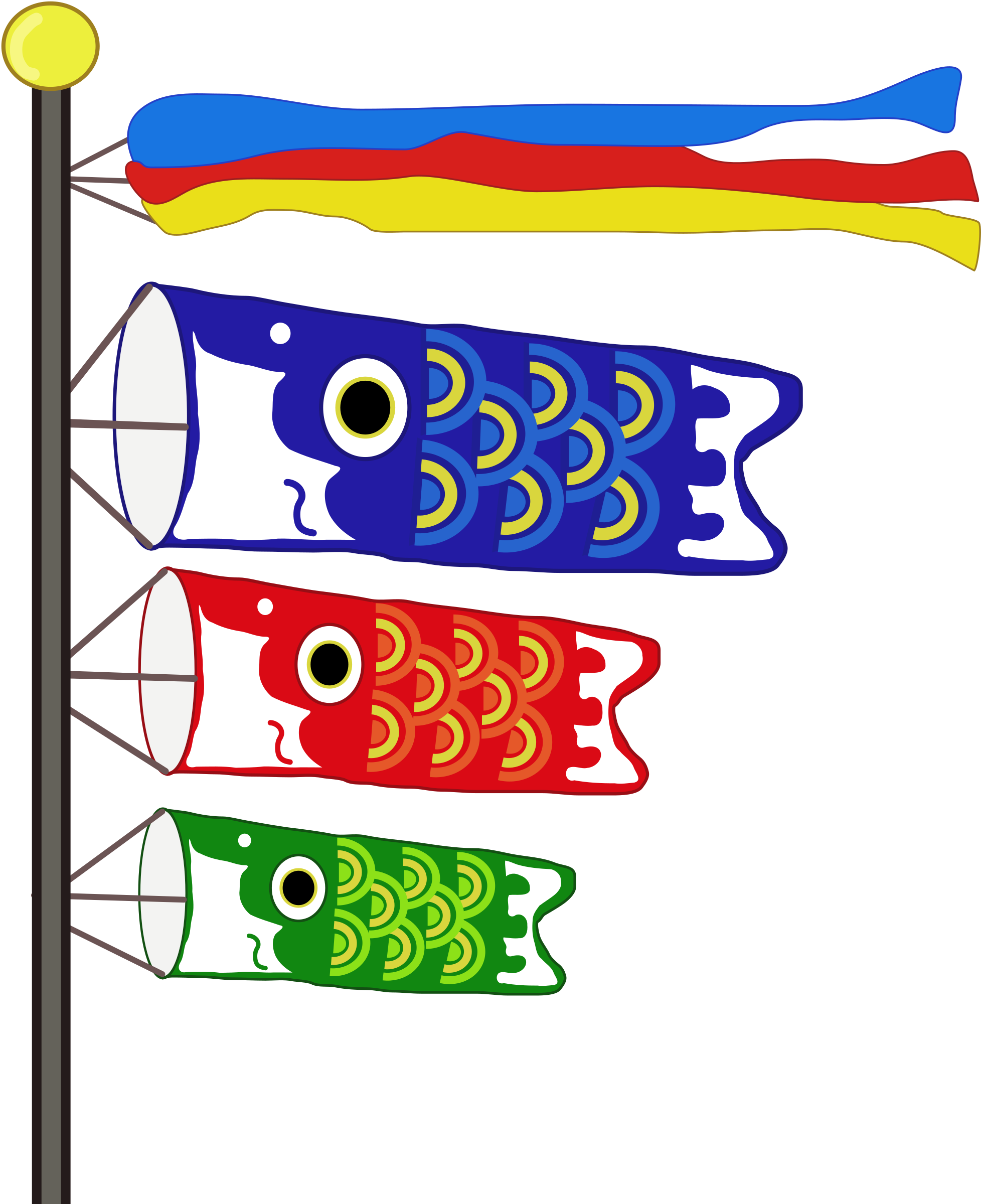 Koinobori - Carp Streamers by j4p4n