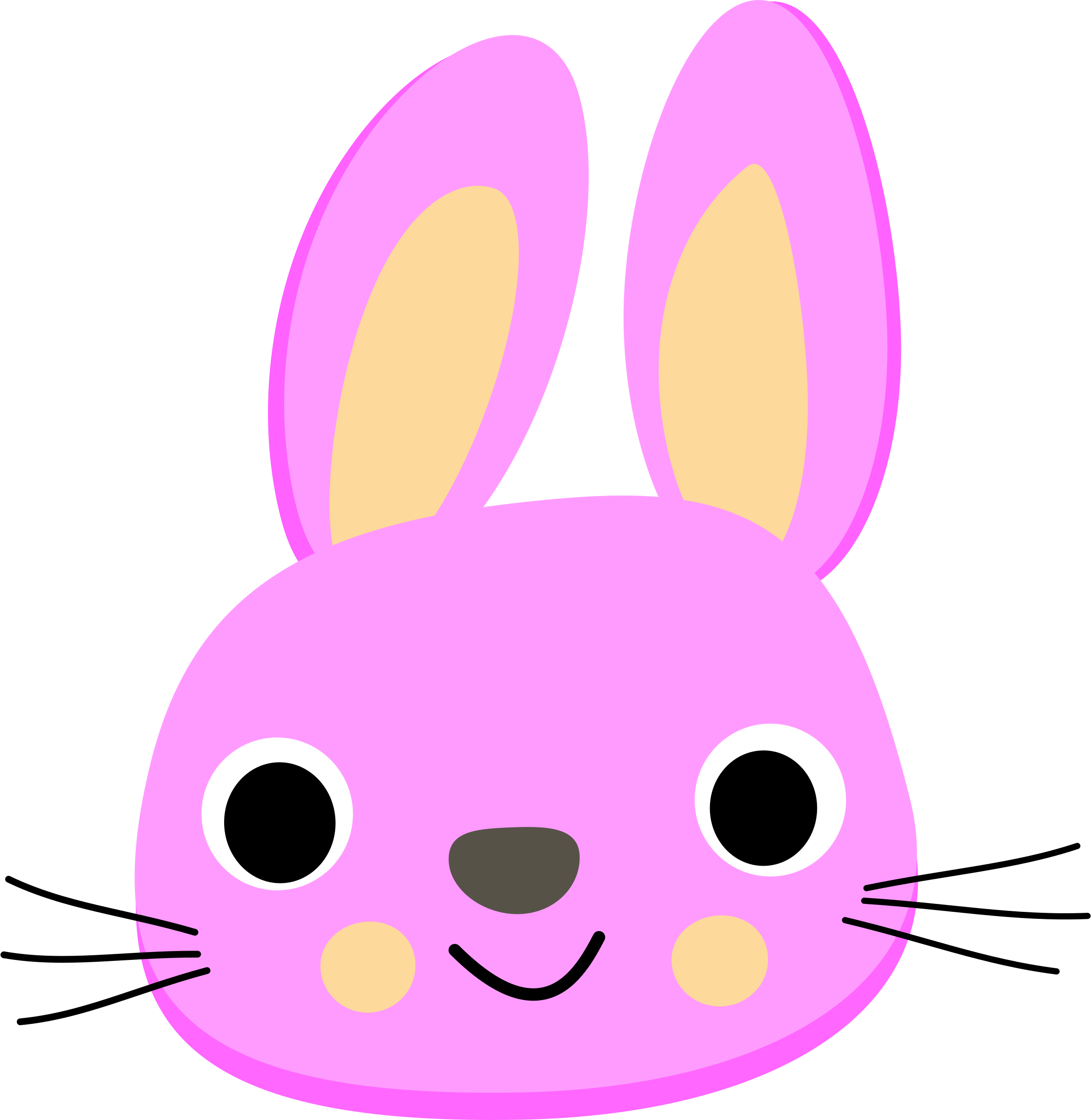 Pink rabbit - Lapin rose by bf5man
