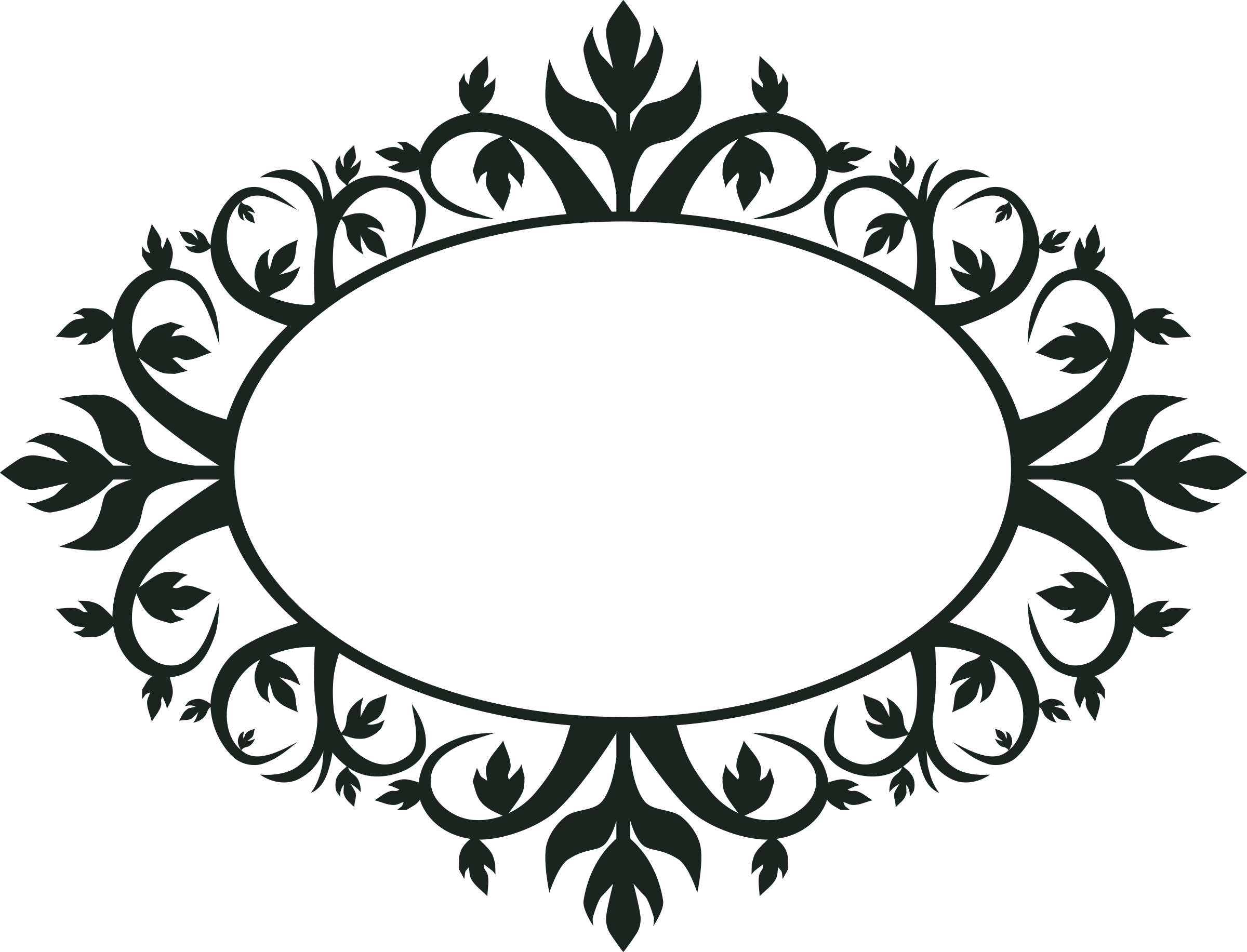 Ornament Oval Frame by jokantola