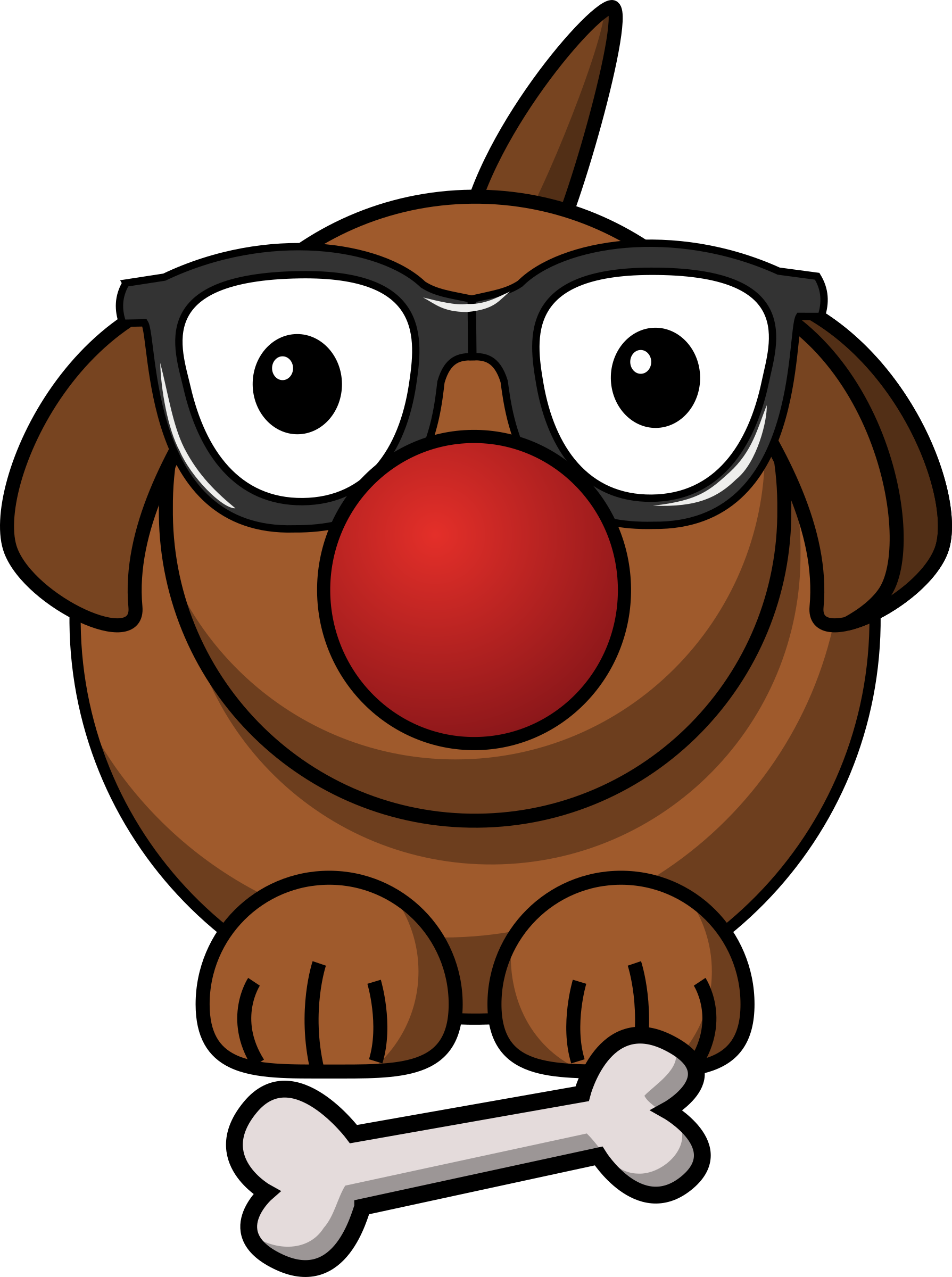 clowny dog by contactr