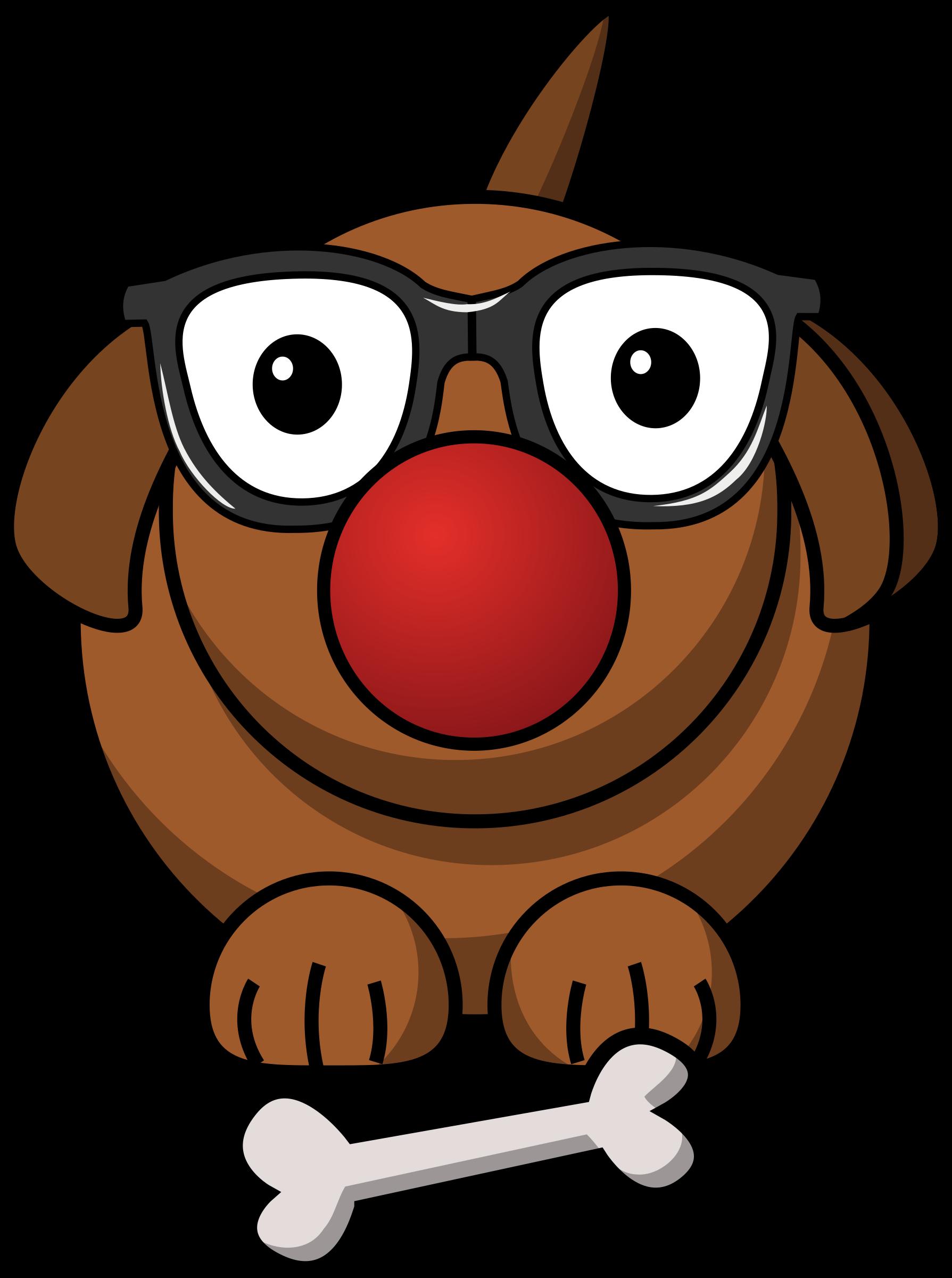 Clipart - clowny dog (1789 x 2400 Pixel)