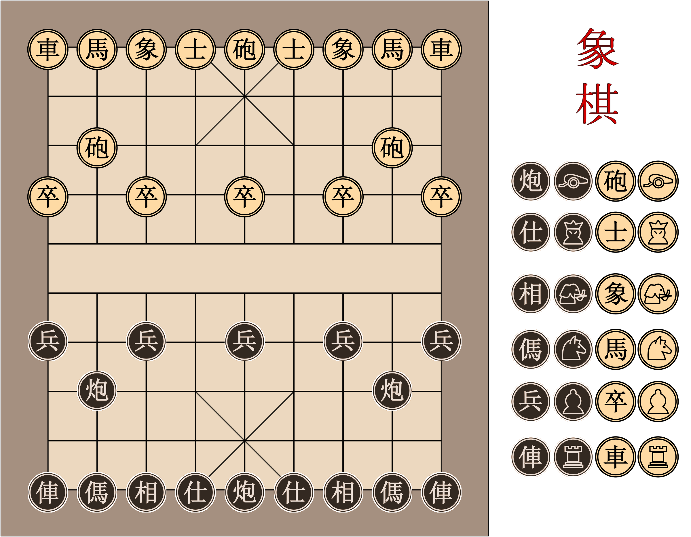 Xiangqi Chinese Chess Board by garrett.mitchener