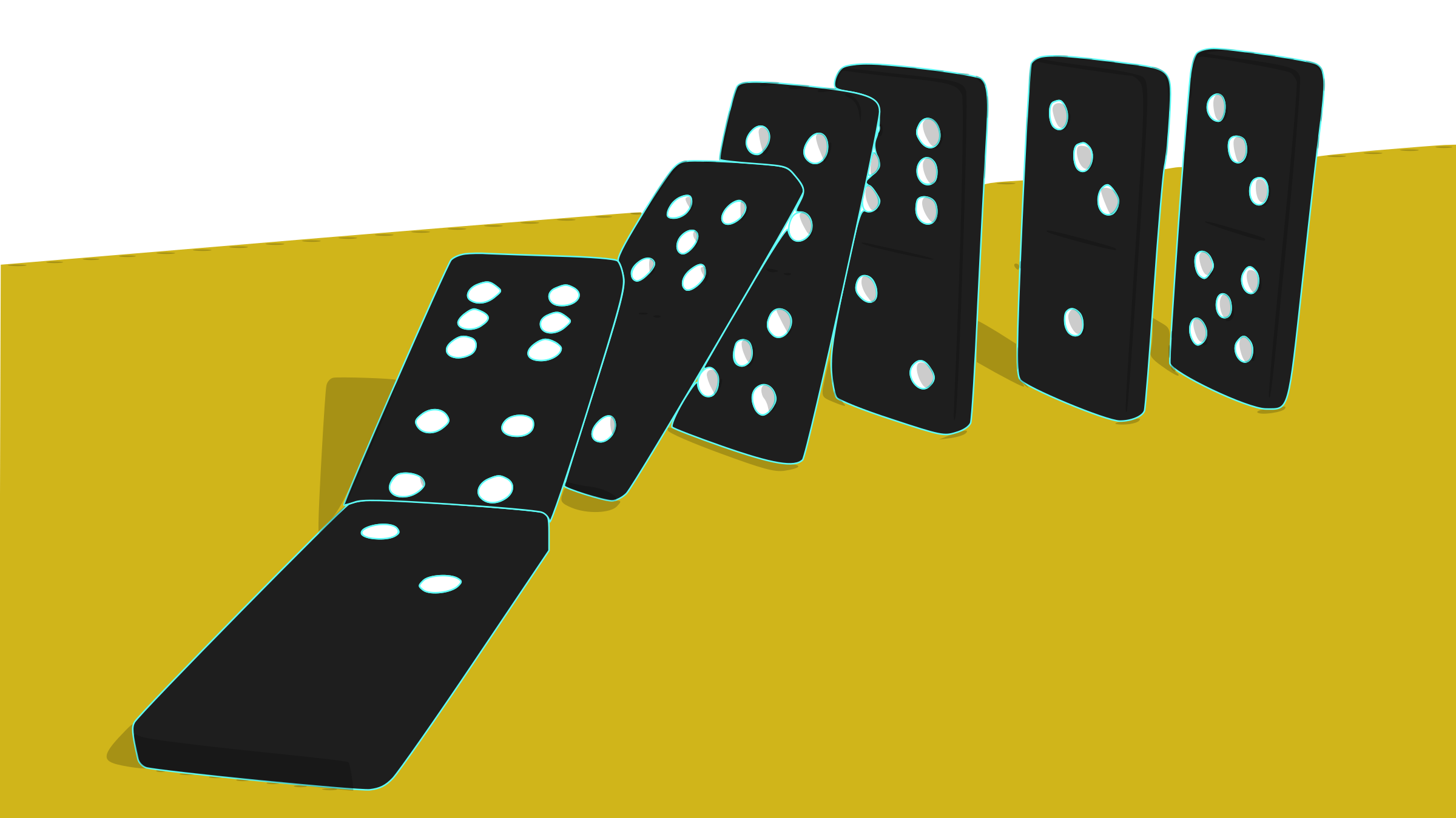 Falling Dominoes by mazeo