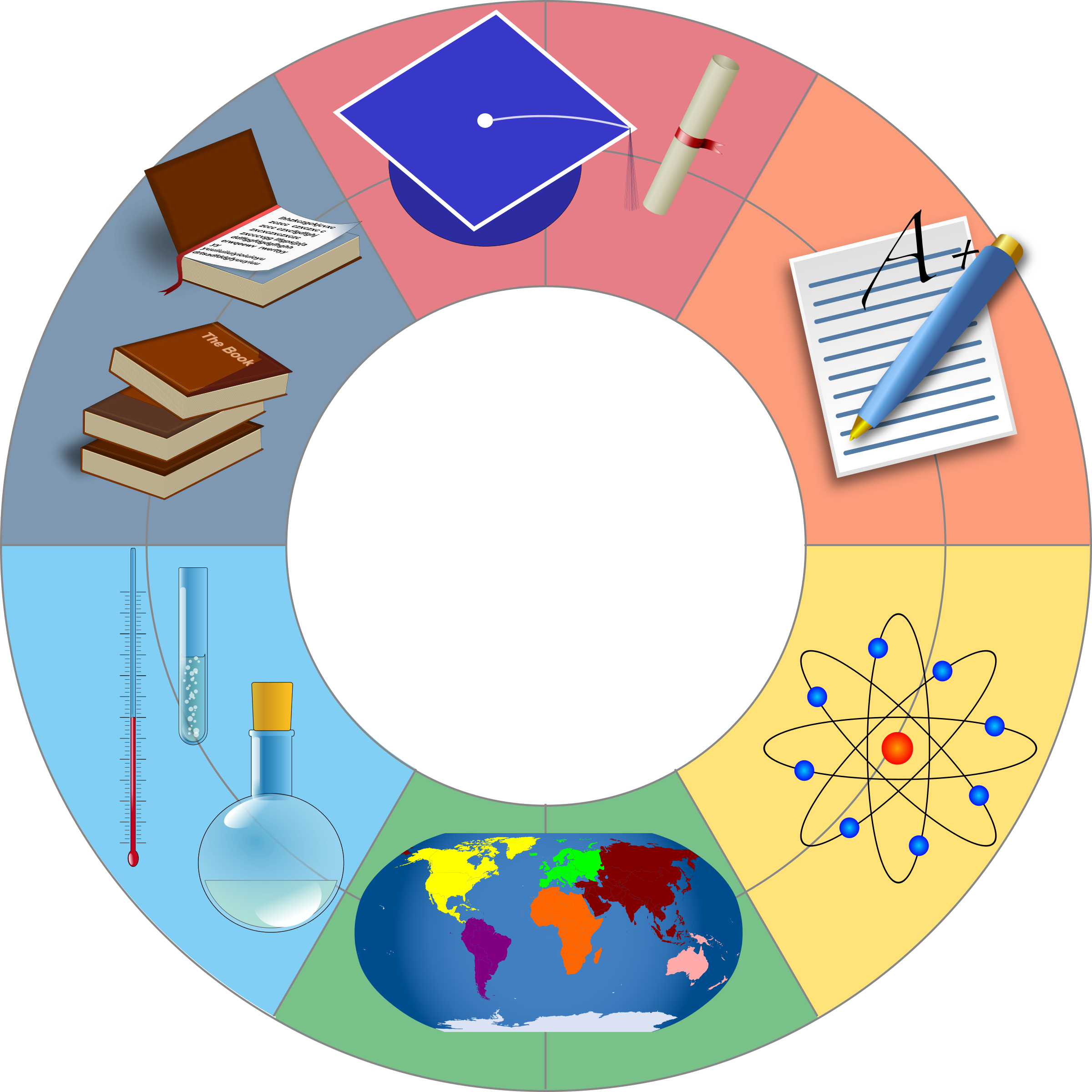 Clipart education wheel education wheel ccuart Images