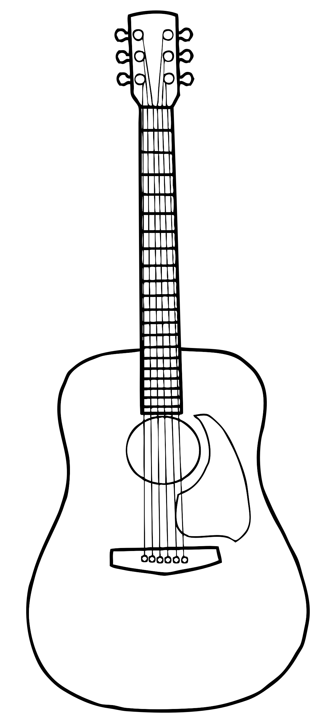 Line Drawing Guitar : Big image png