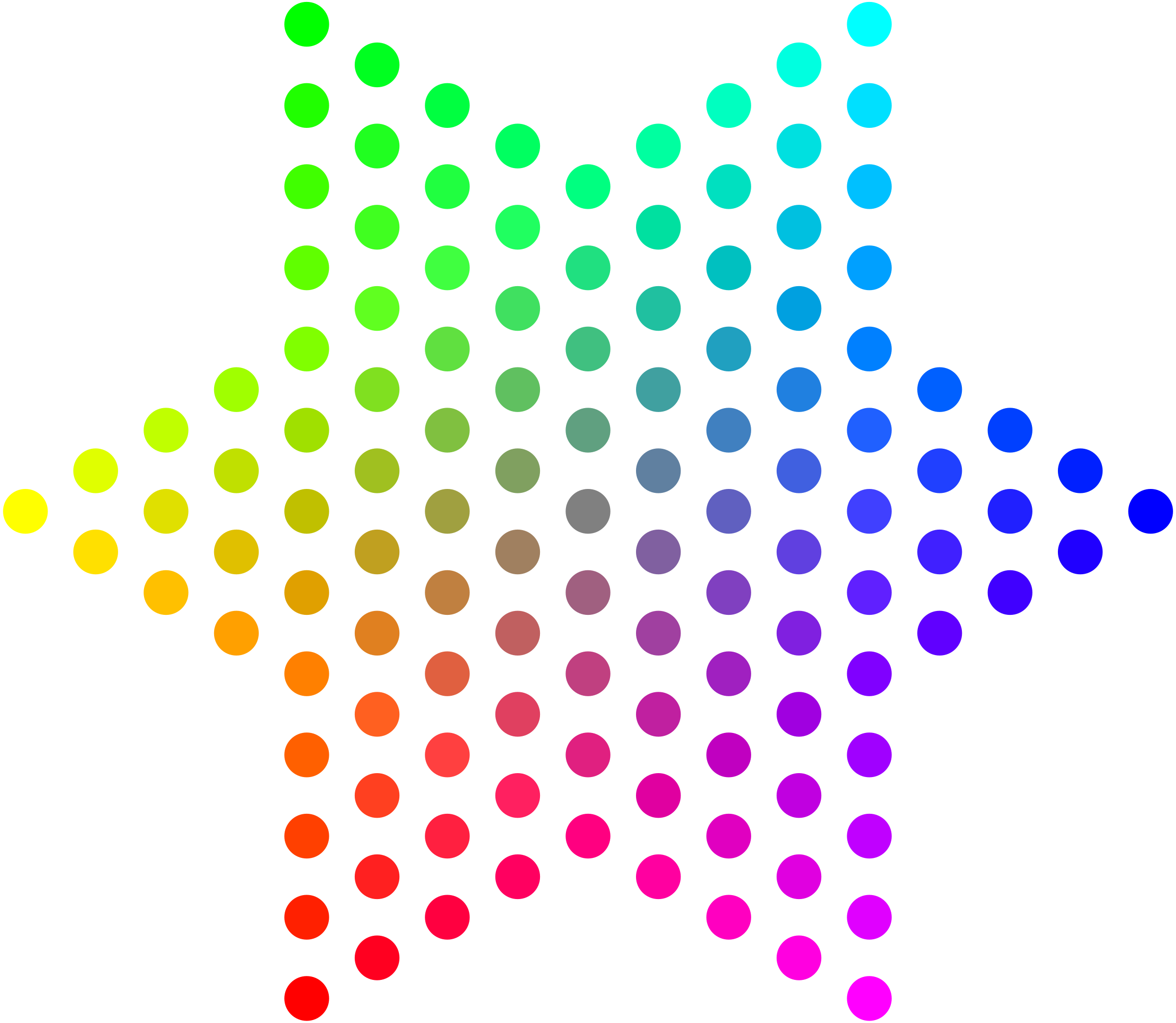 Color Dots Hexagram by mazeo