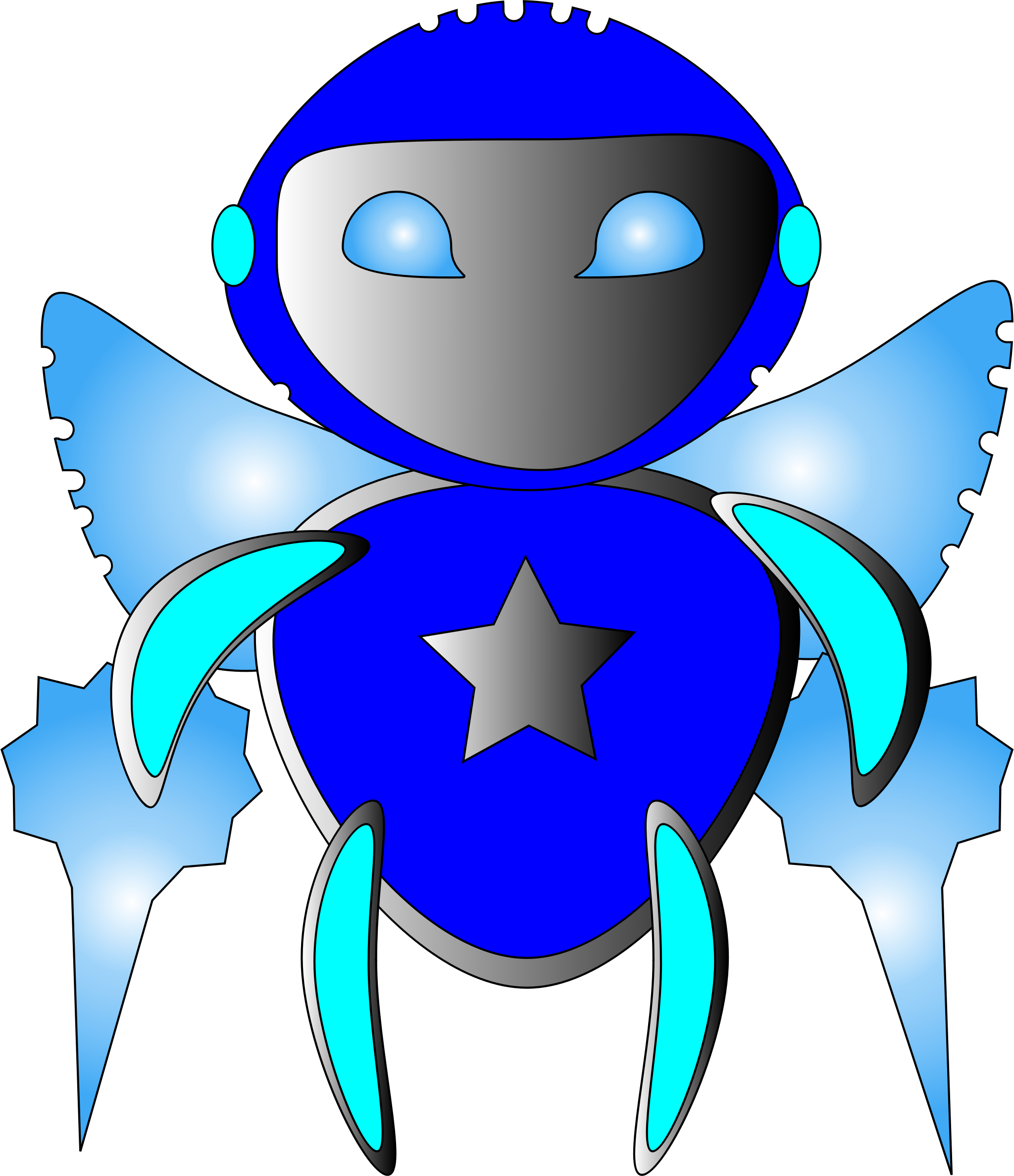ROBOT CLIPART by tris10yeo