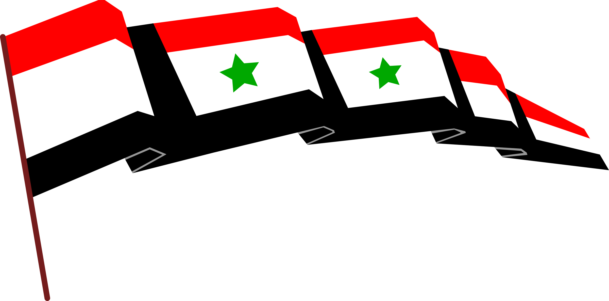 Syrian flag by clagnar