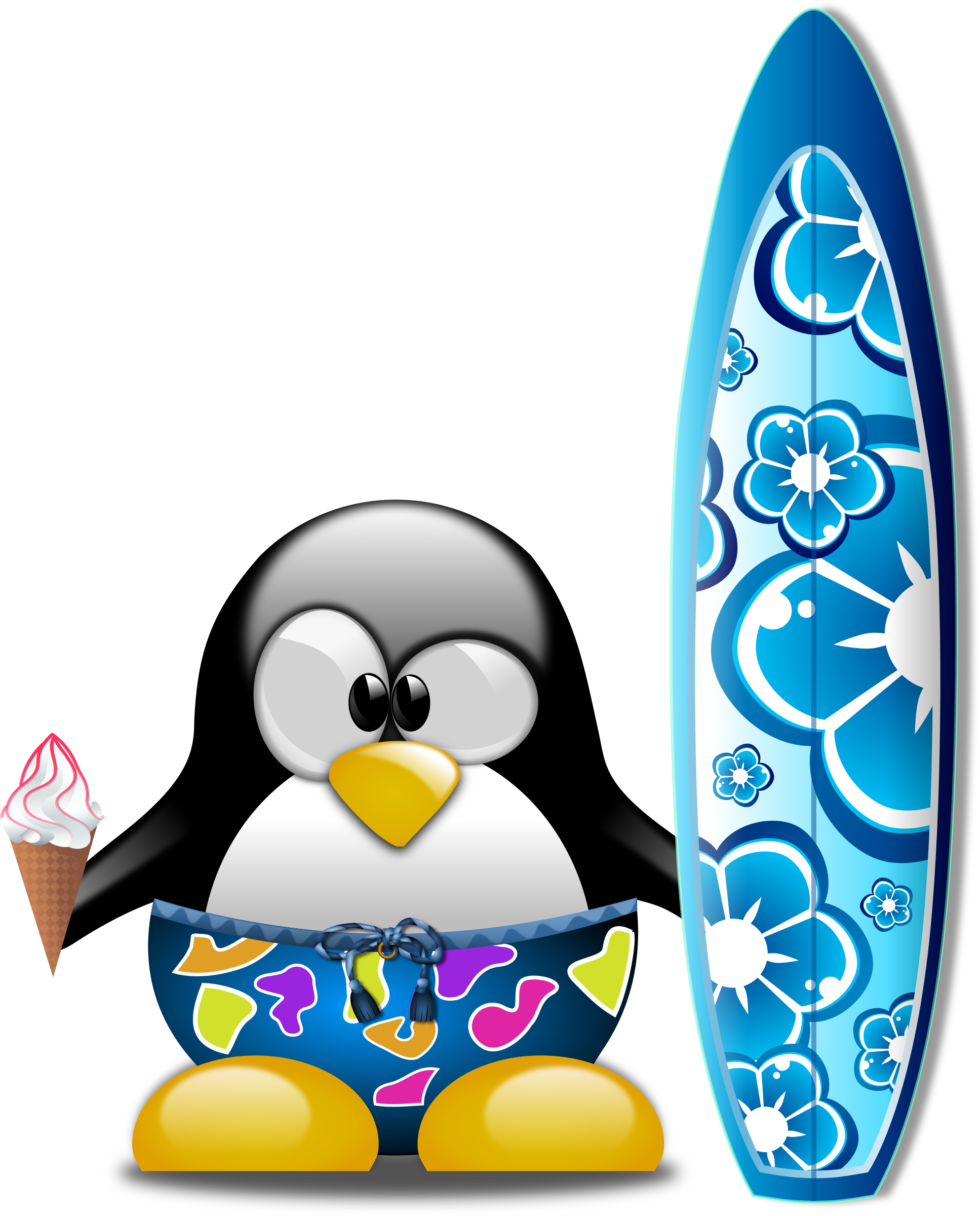 Tux the Surfer by Merlin2525