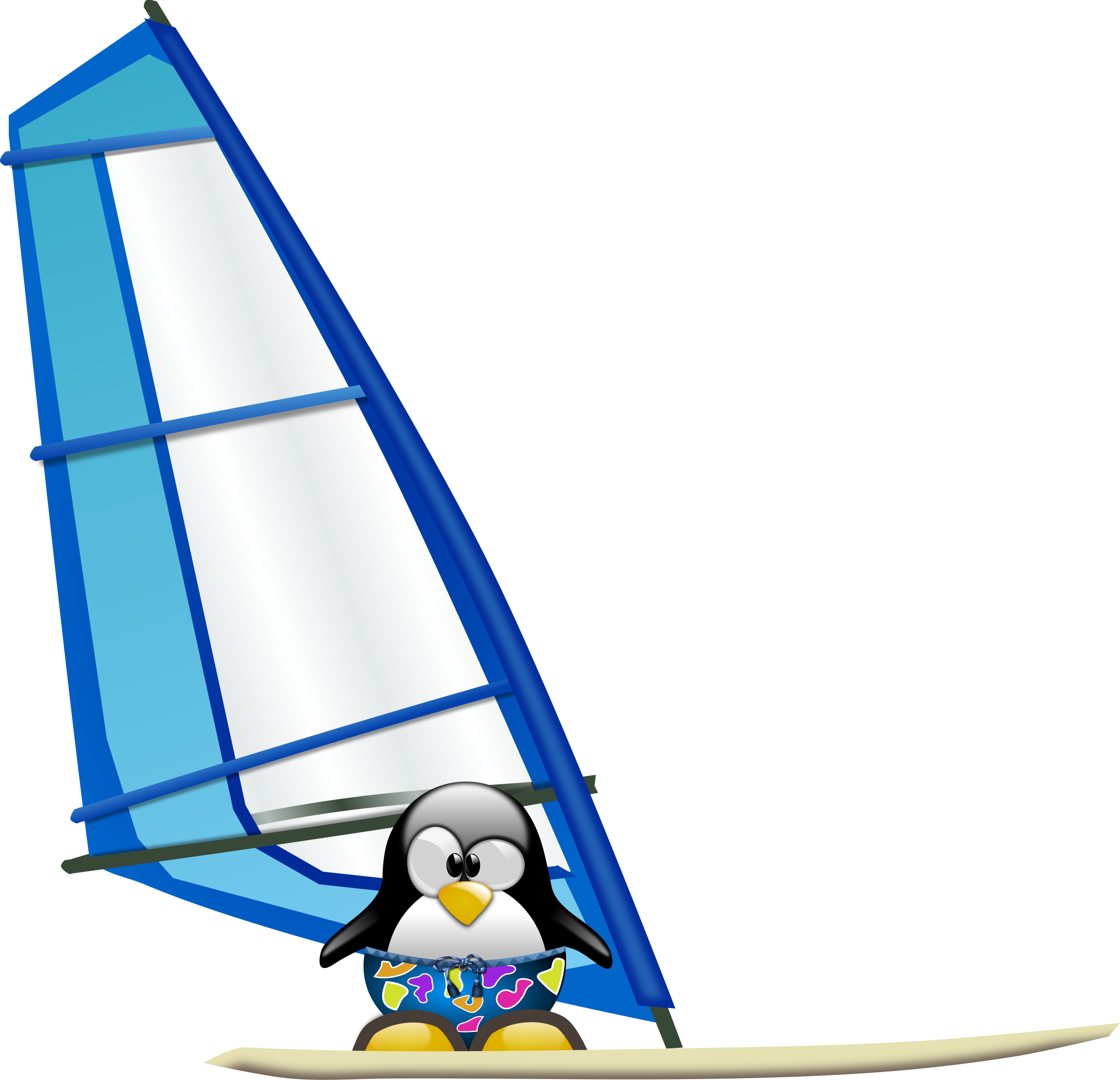 Tux Sailing by Merlin2525