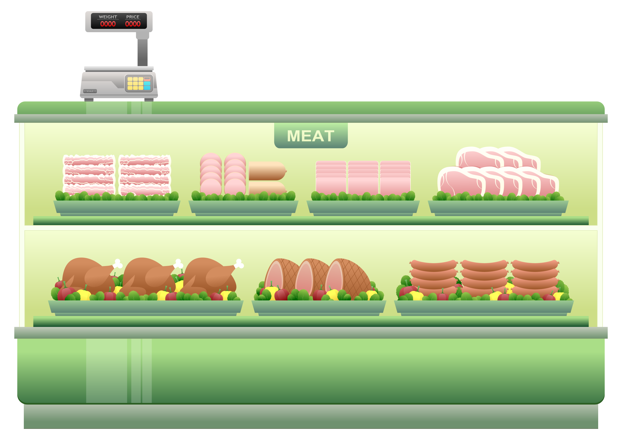 Supermarket Meat Counter by Viscious-Speed
