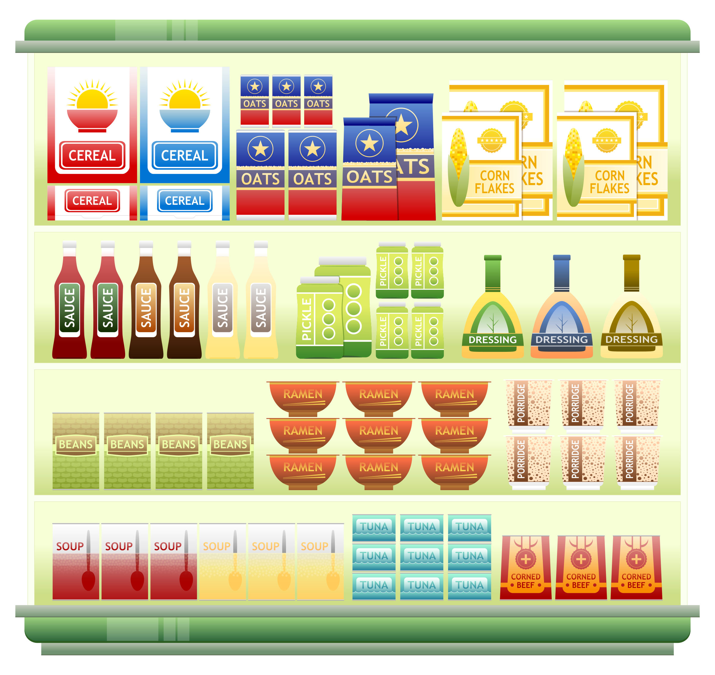 Supermarket Goods Shelf 2 by Viscious-Speed