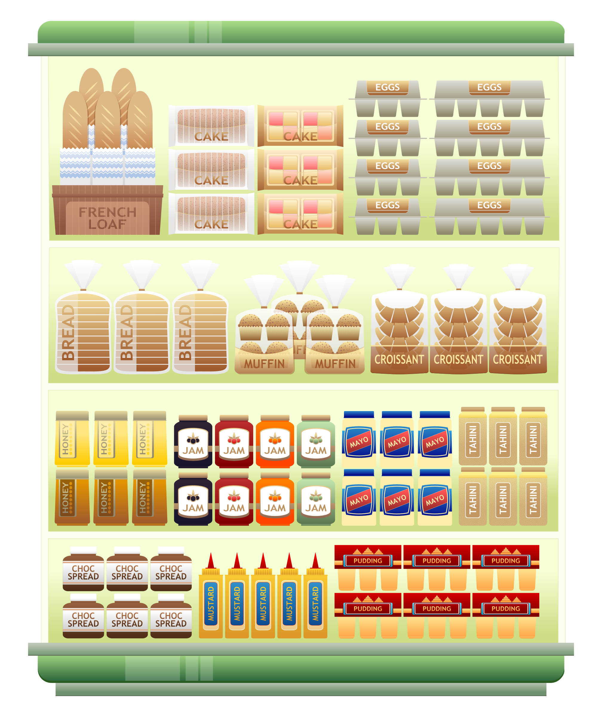 Supermarket Goods Shelf 5 by Viscious-Speed