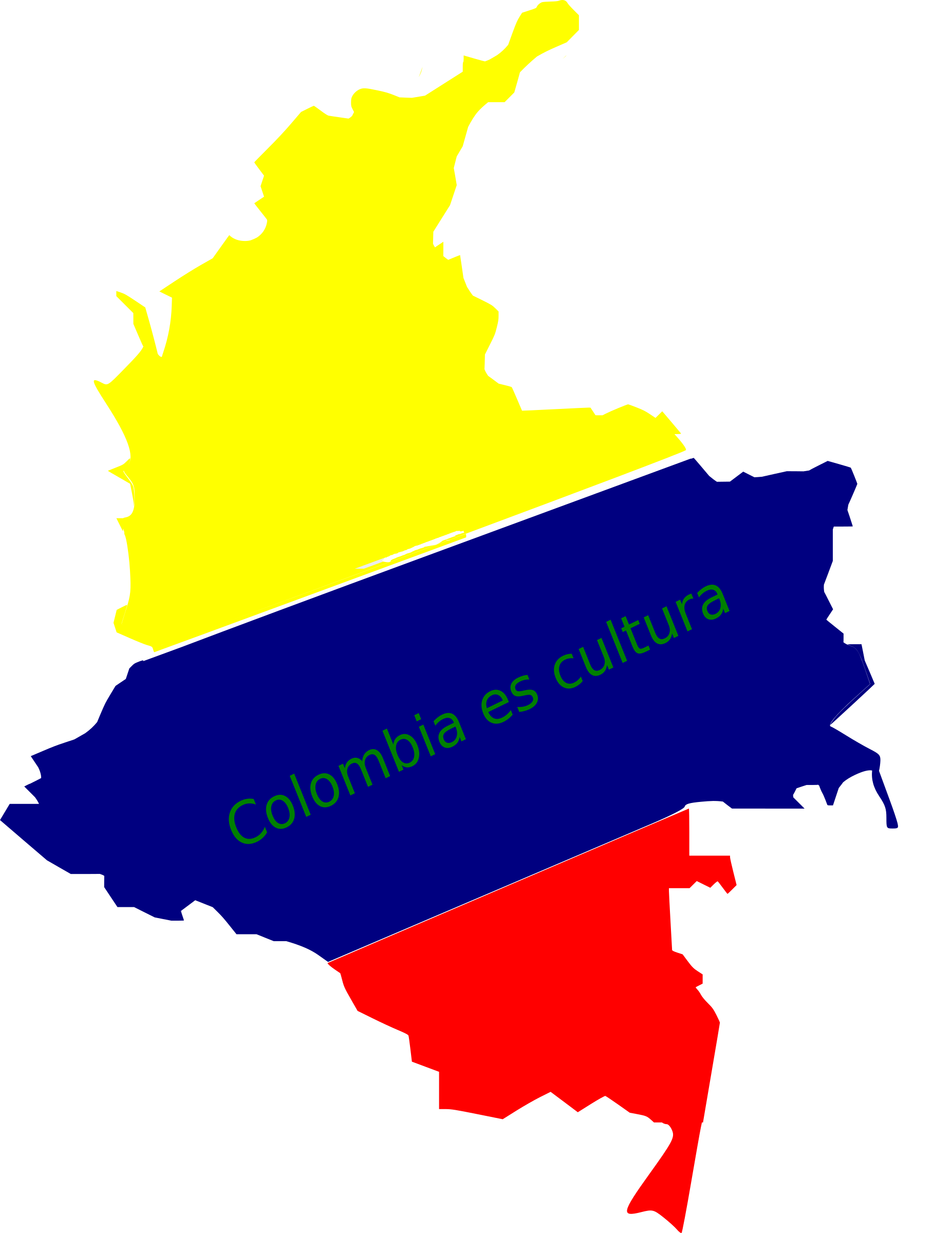 mapa de colombia by flako