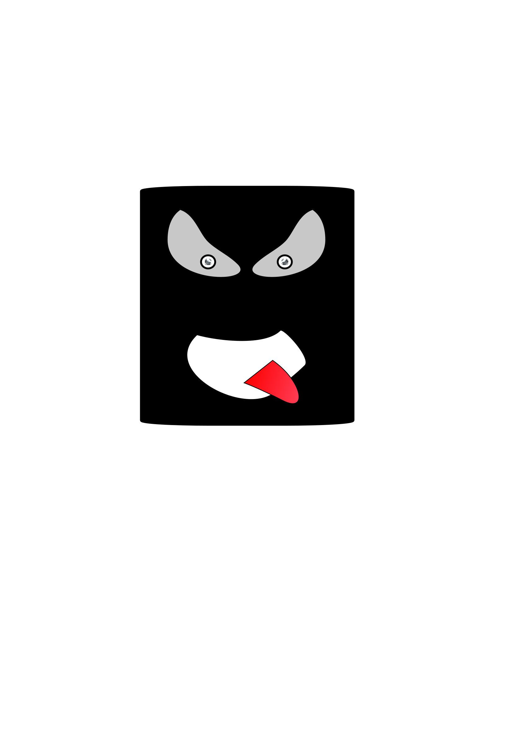 Black angry canman by roboxman