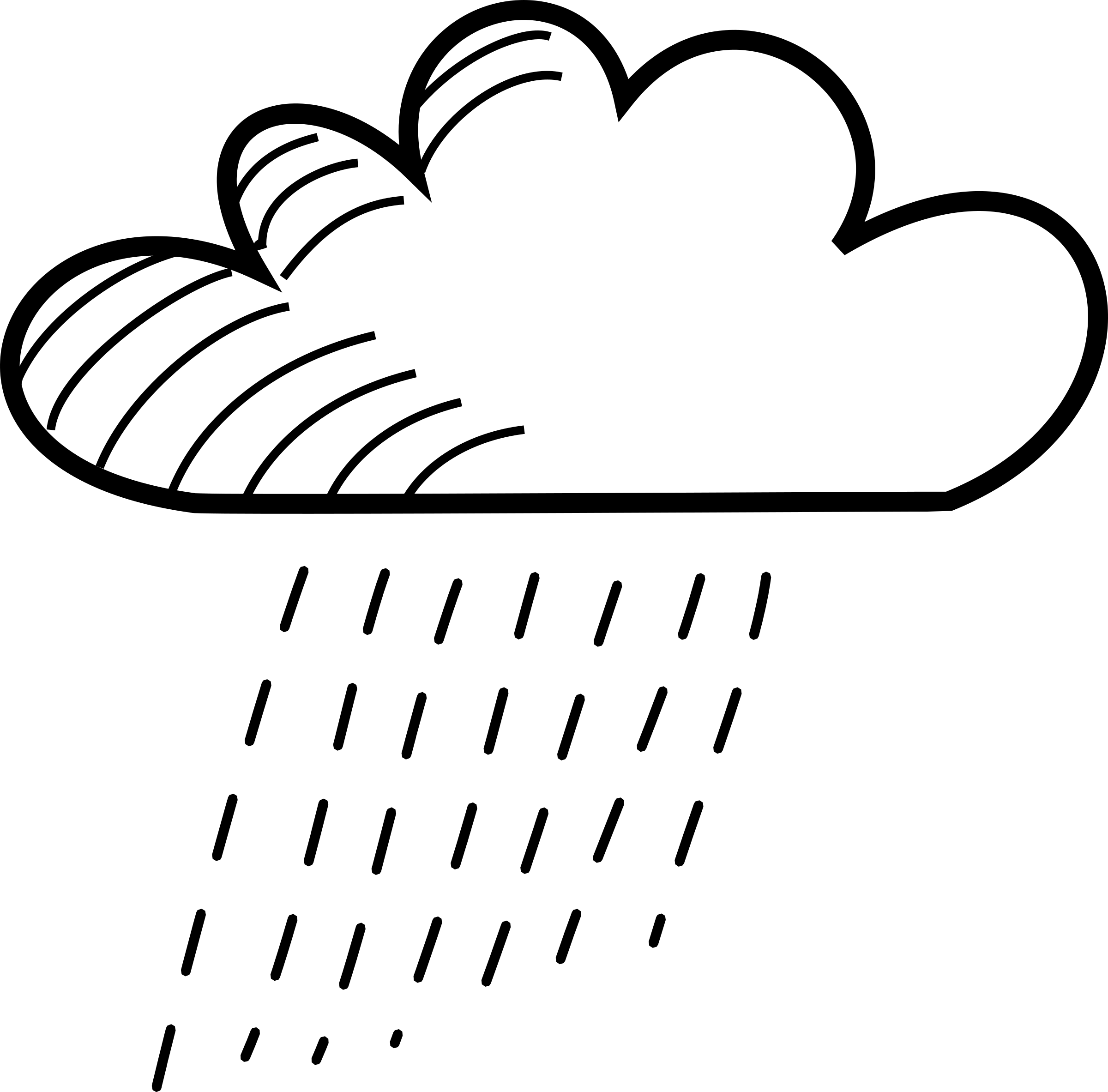 Rainy Stick Figure Cloud by uroesch