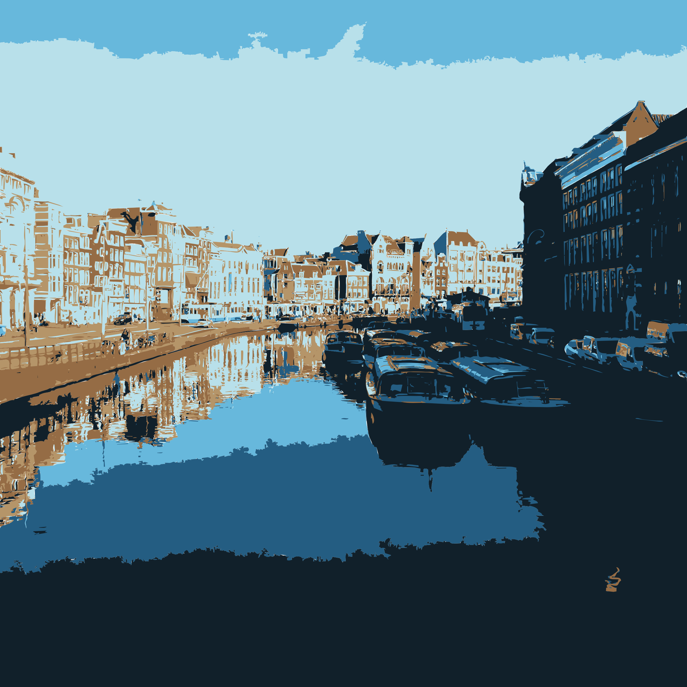 Amsterdam waterway by jonphillips