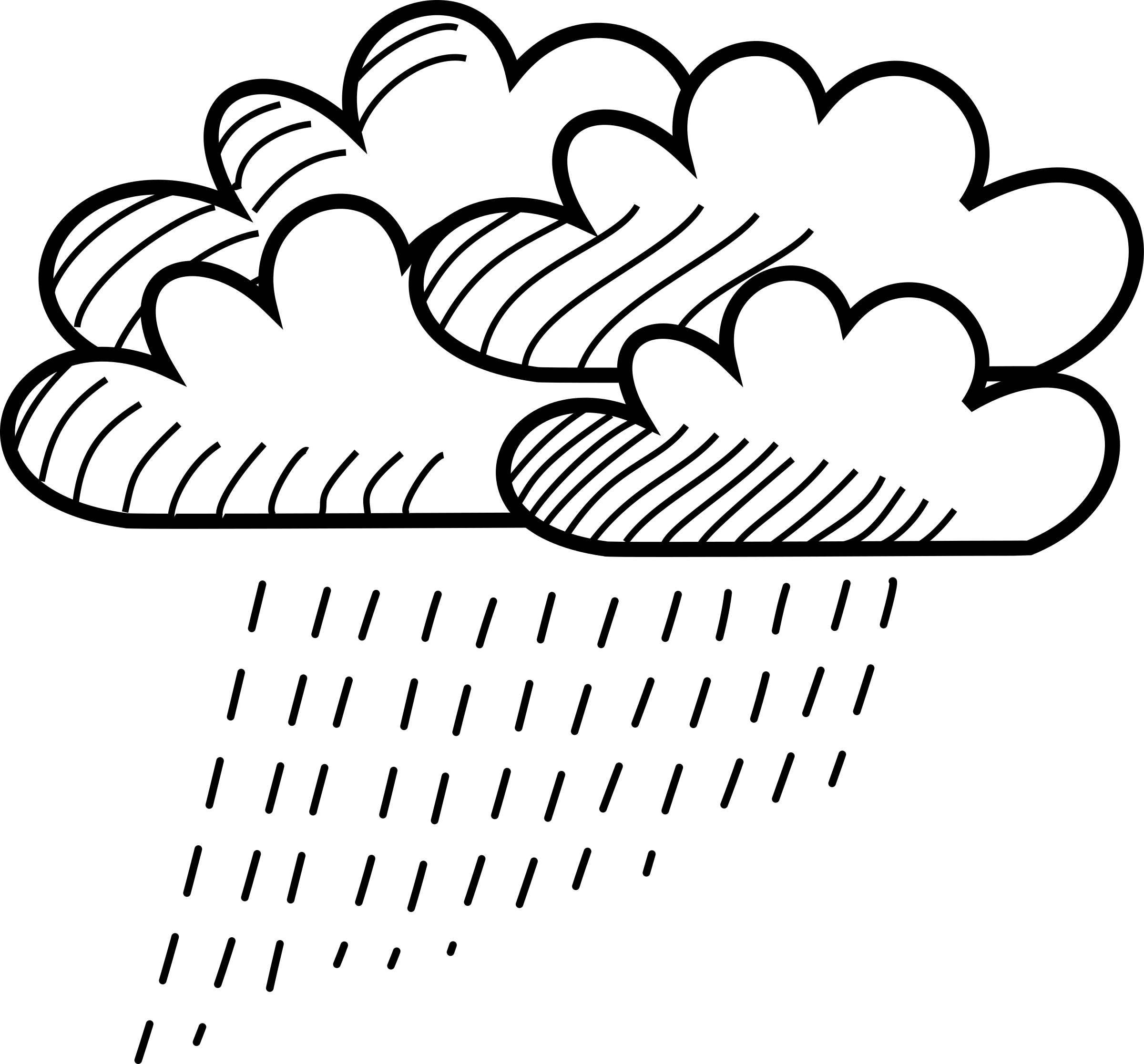 Xfig Line Drawing : Clipart rainy stick figure cloud cluster