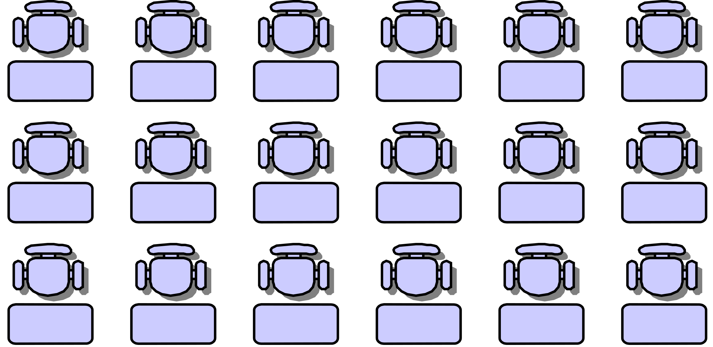 Classroom seat layouts by jabela