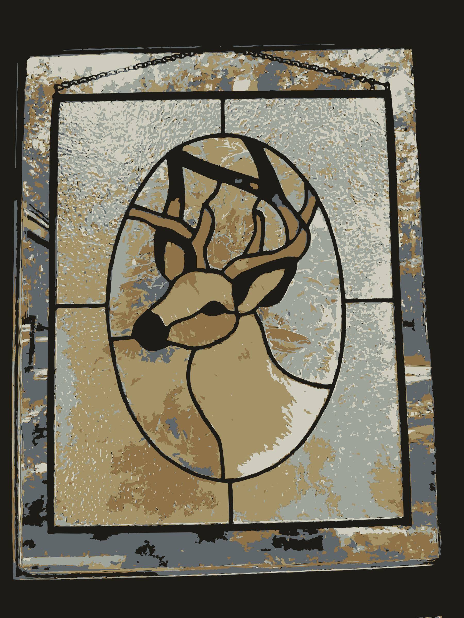 REQUEST: Deer Stained Glass by wanglizhong