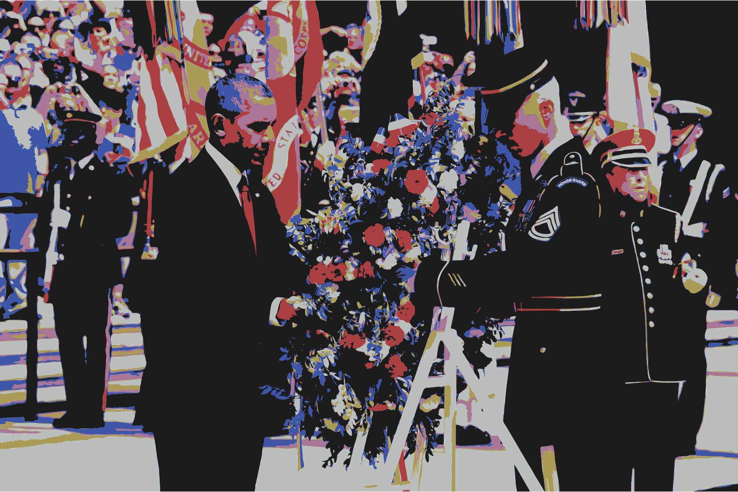President Barack Obama Wreath Laying Memorial Day by wanglizhong