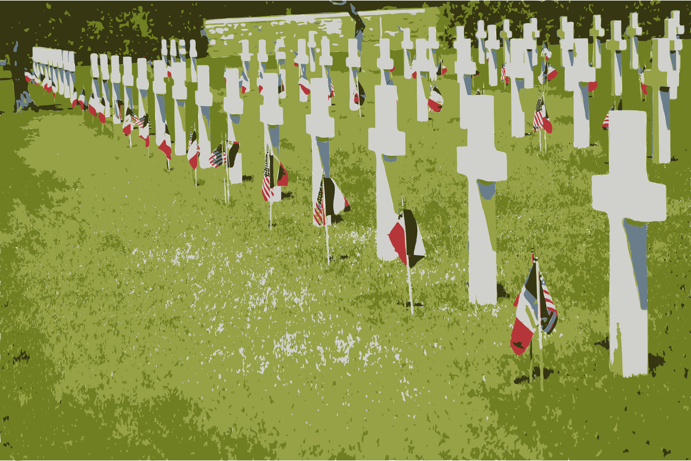 Rhone American Cemetery and Memorial Colorized by wanglizhong