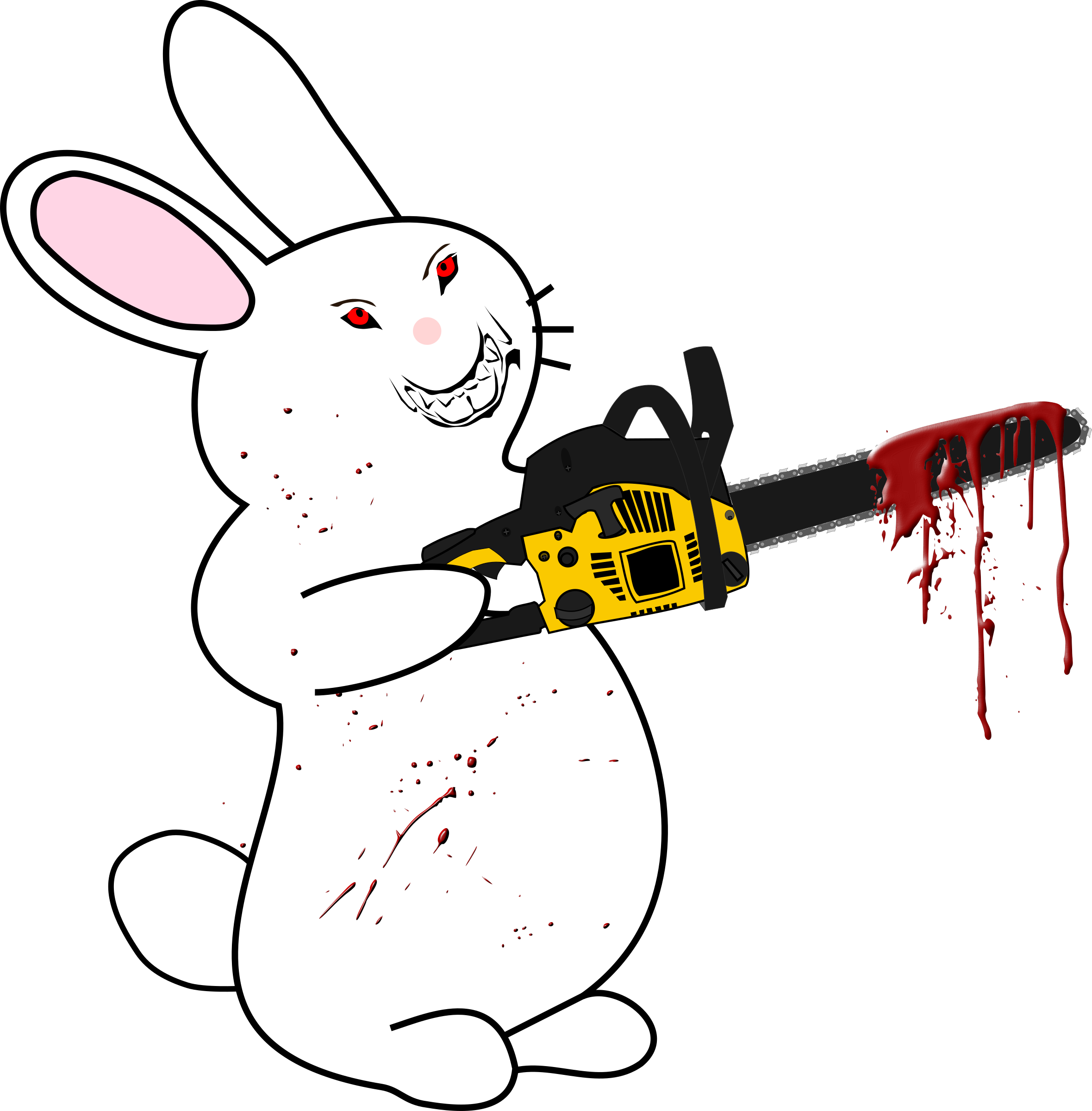 Bunny With Chainsaw by Woofer