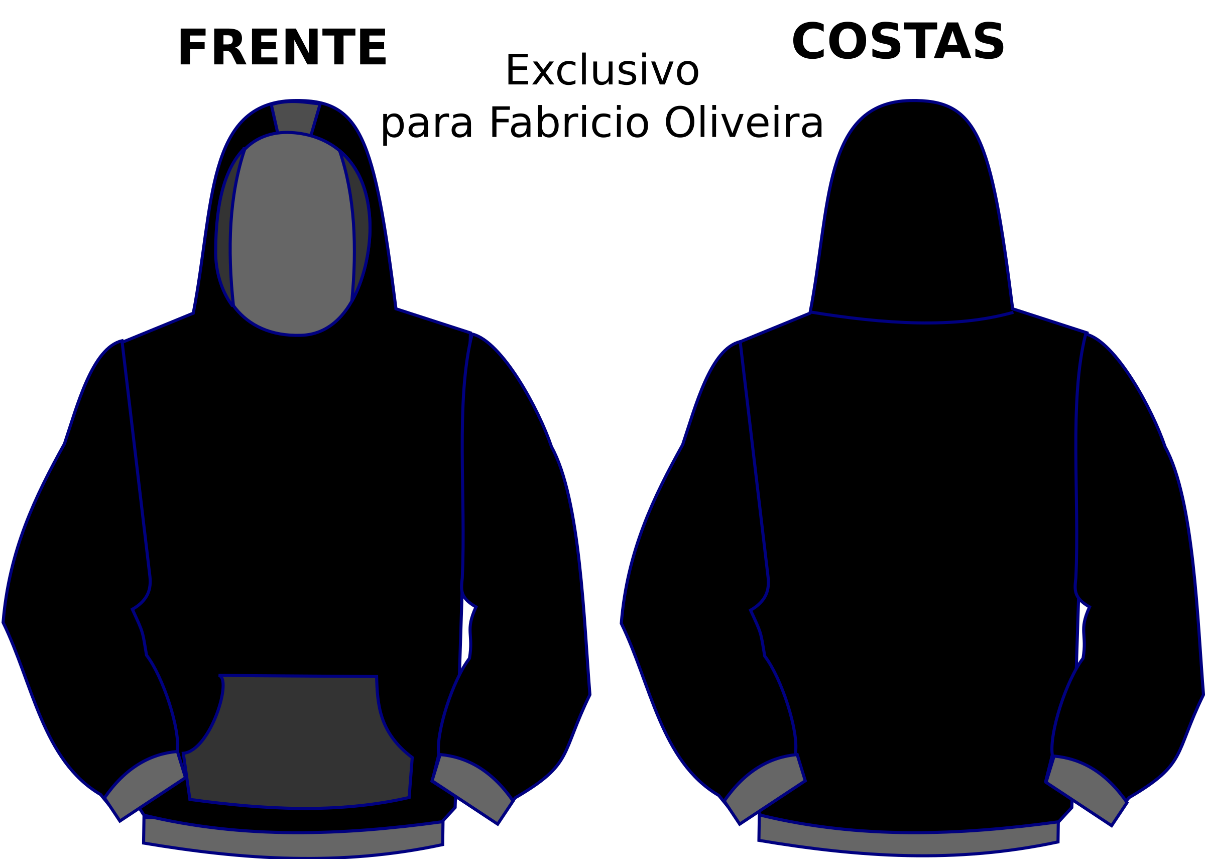 Hoodie template by LonelyEagle