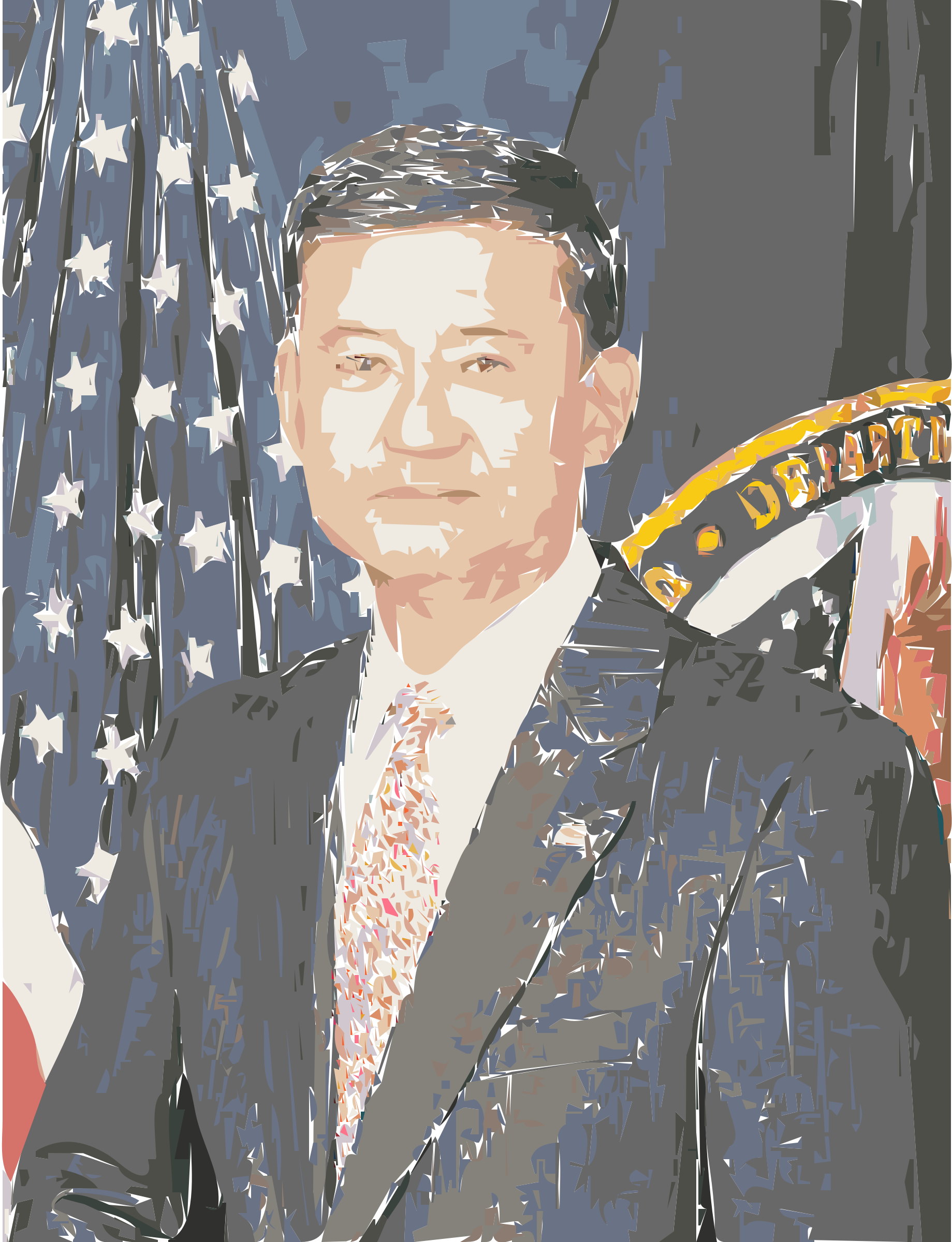 Eric Shinseki official Veterans Affairs Portrait Colorized by wanglizhong