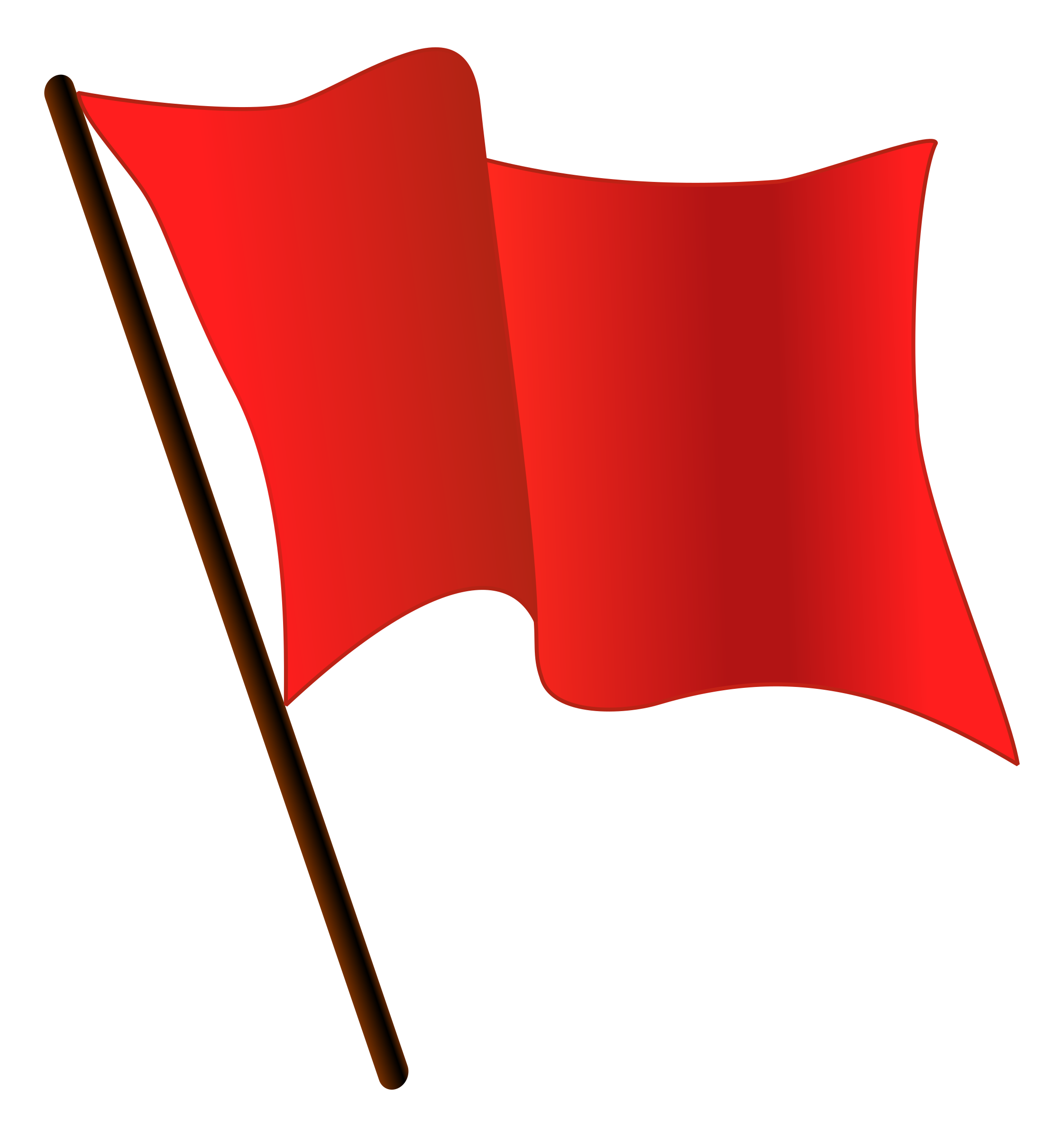 DodgerRed Flag Waving  by worker