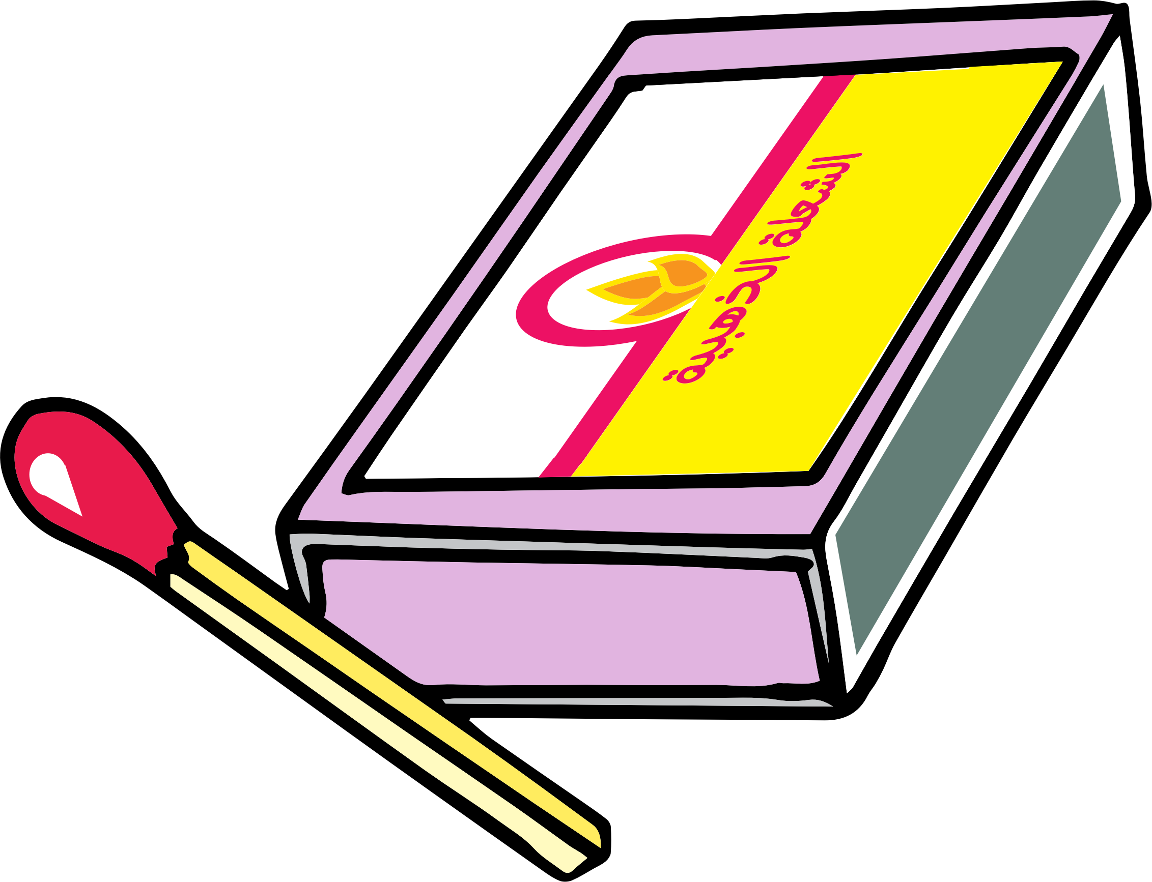 Clipart - safety matches علبة كبريت for Matches Clip Art  70ref