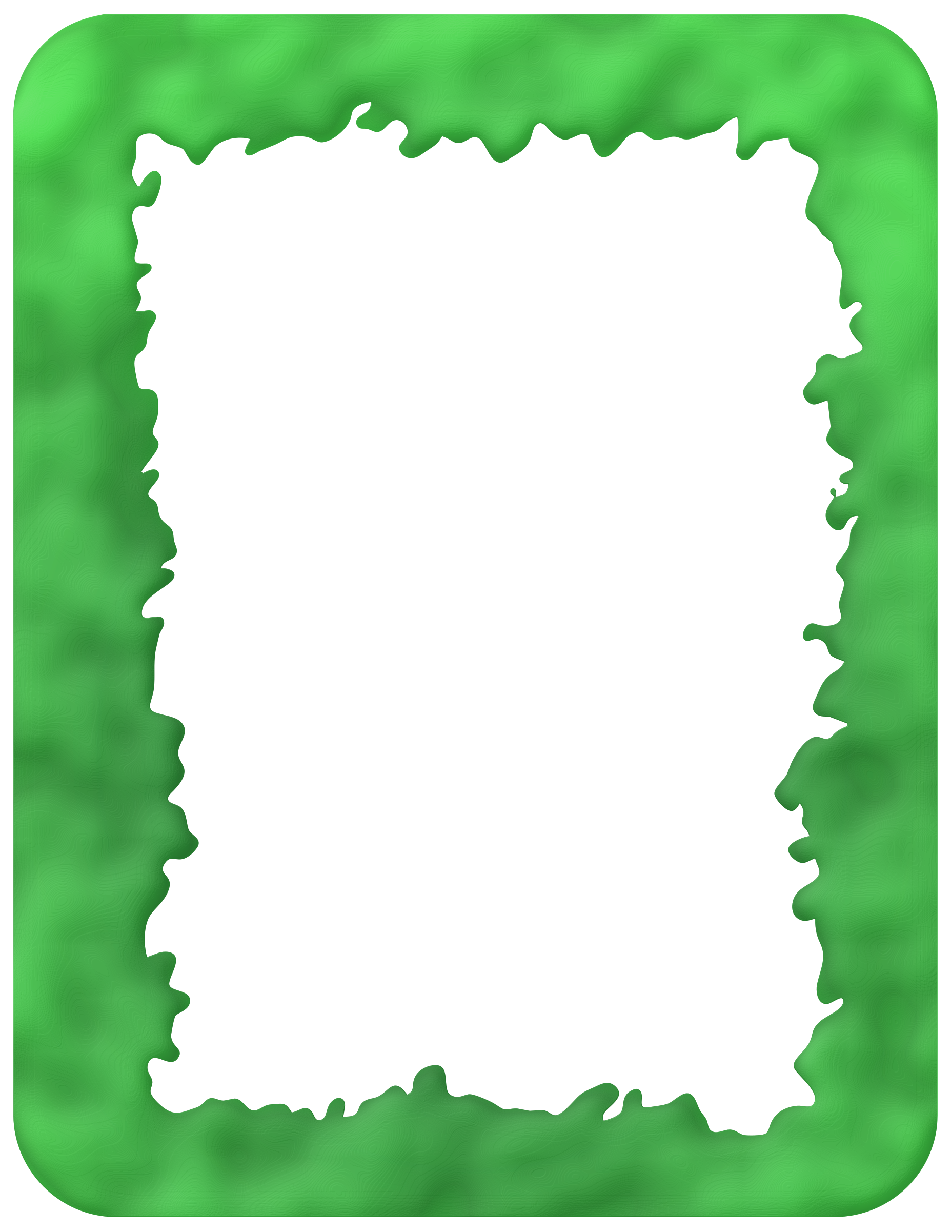 Free art print of Slime Border 3. A green background bordered on 4 ...