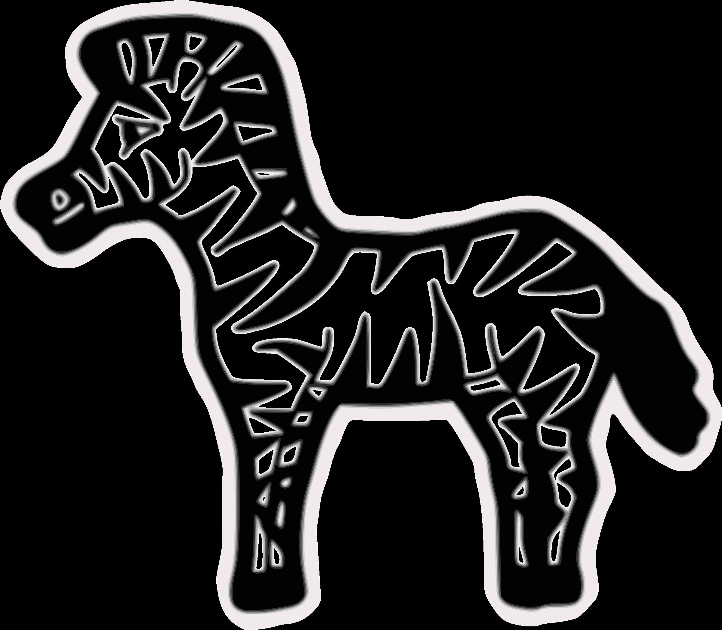 Clipart - Zebra