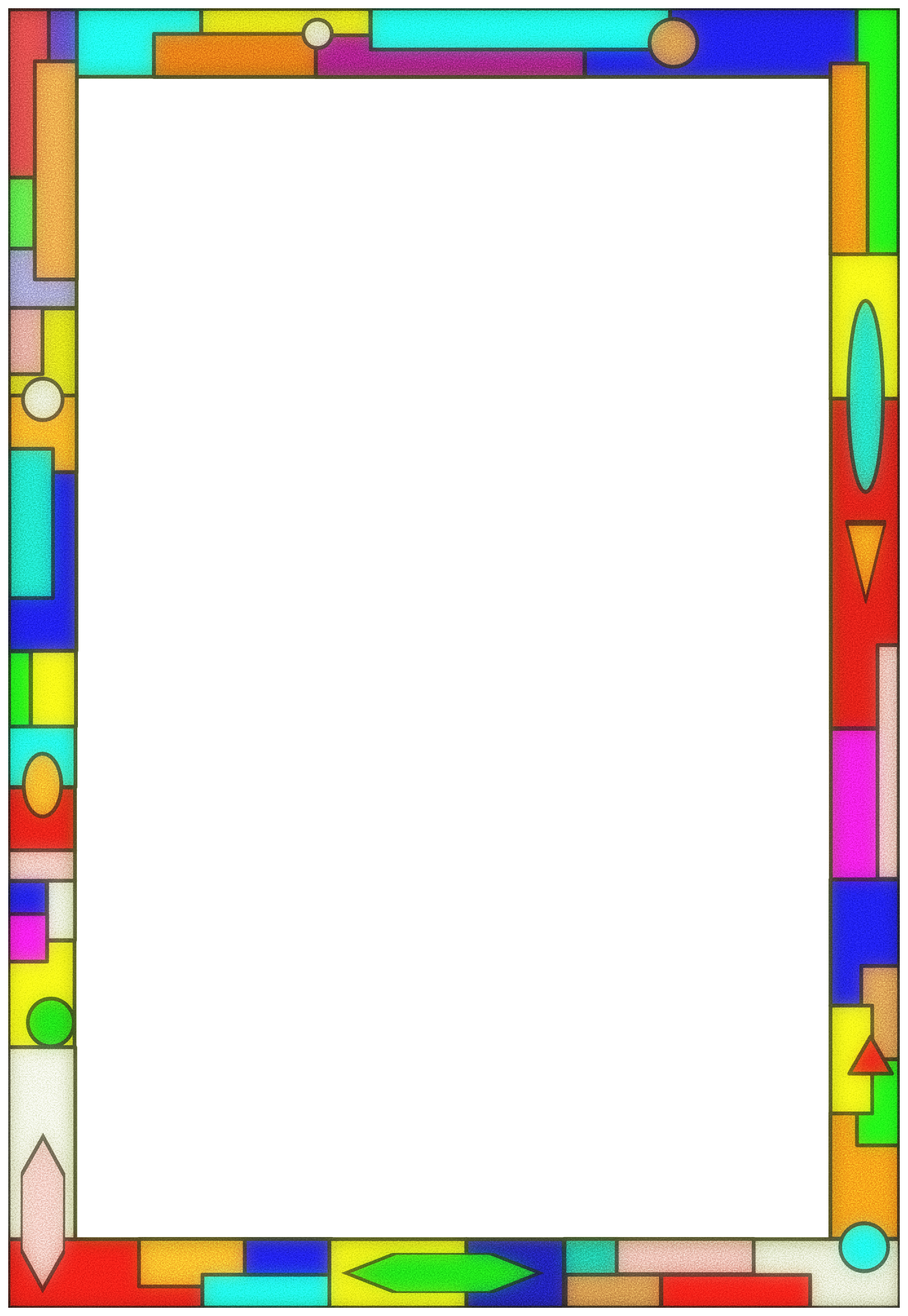 Stained Glass Border 01 by Arvin61r58