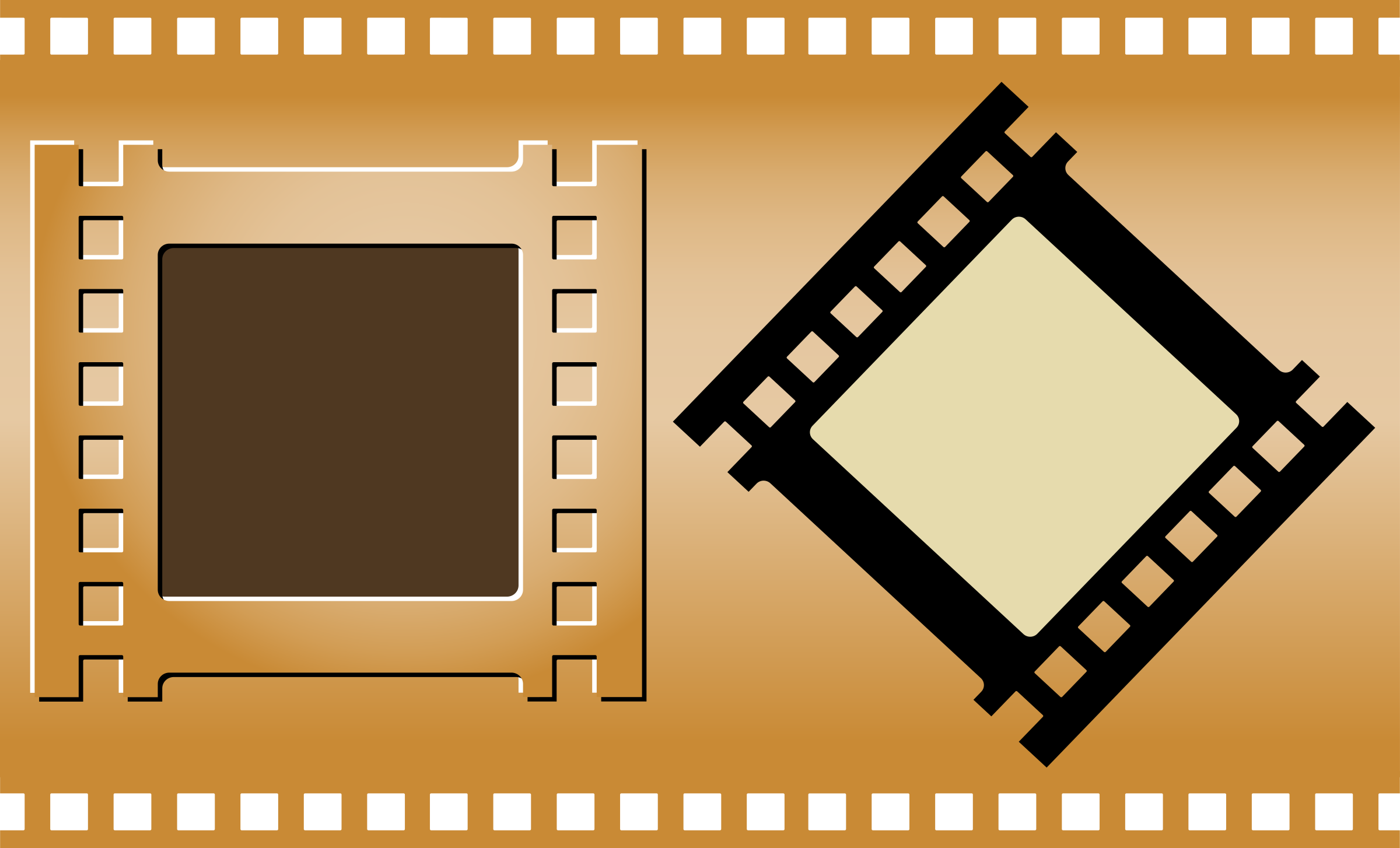 three film strips poster frame