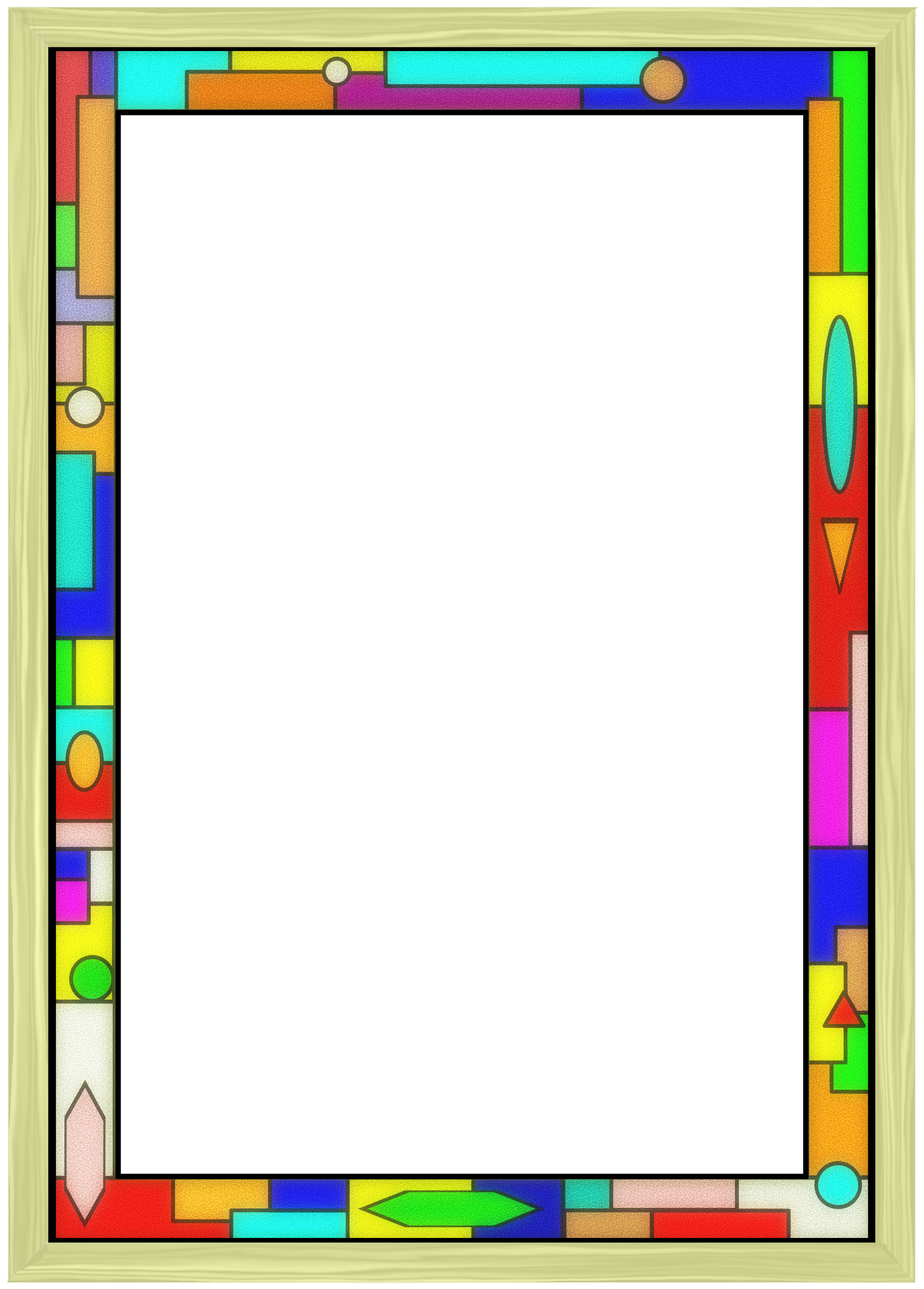 clipart stained glass border 02