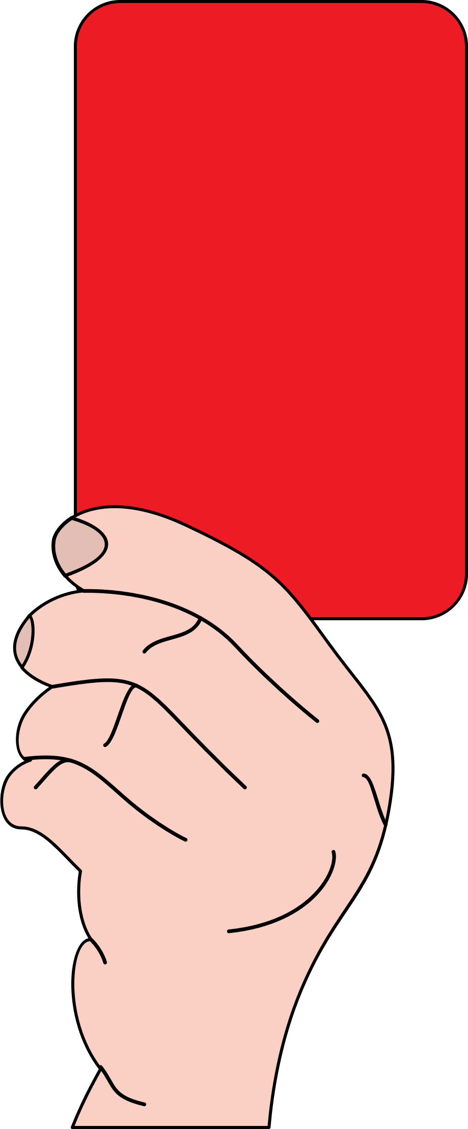 Referee showing red card by casino