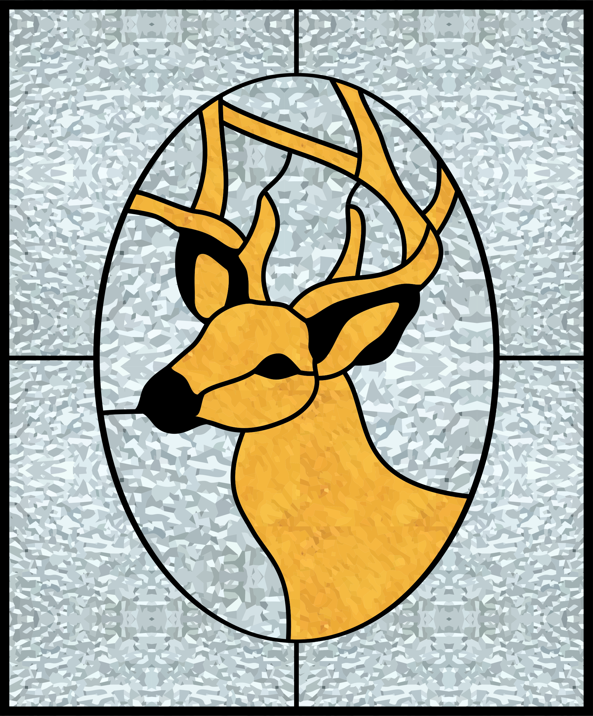 Deer Stained Glass by gustavorezende