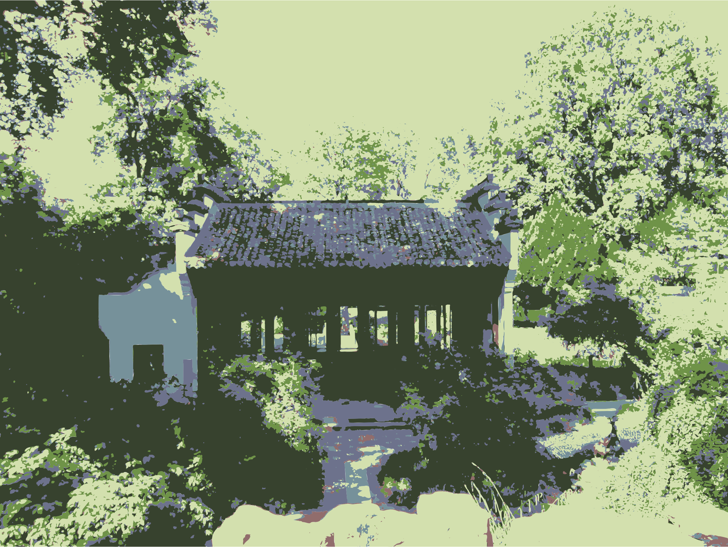 Chinese Garden I by martinaledermann