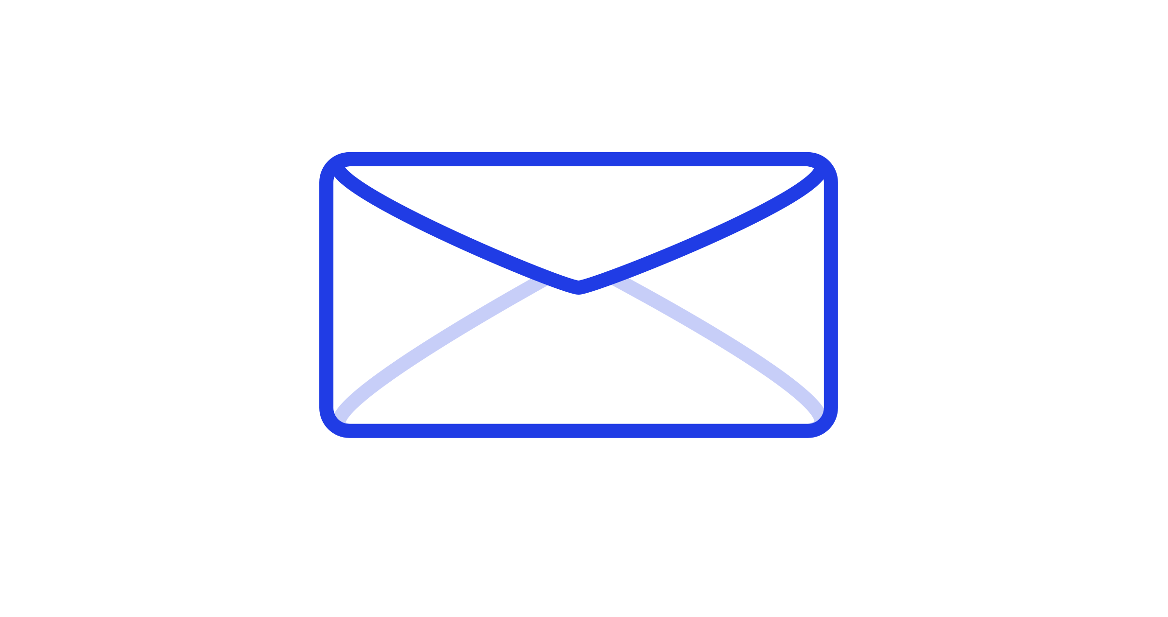 Mail Envelope blue by gerhard-tinned