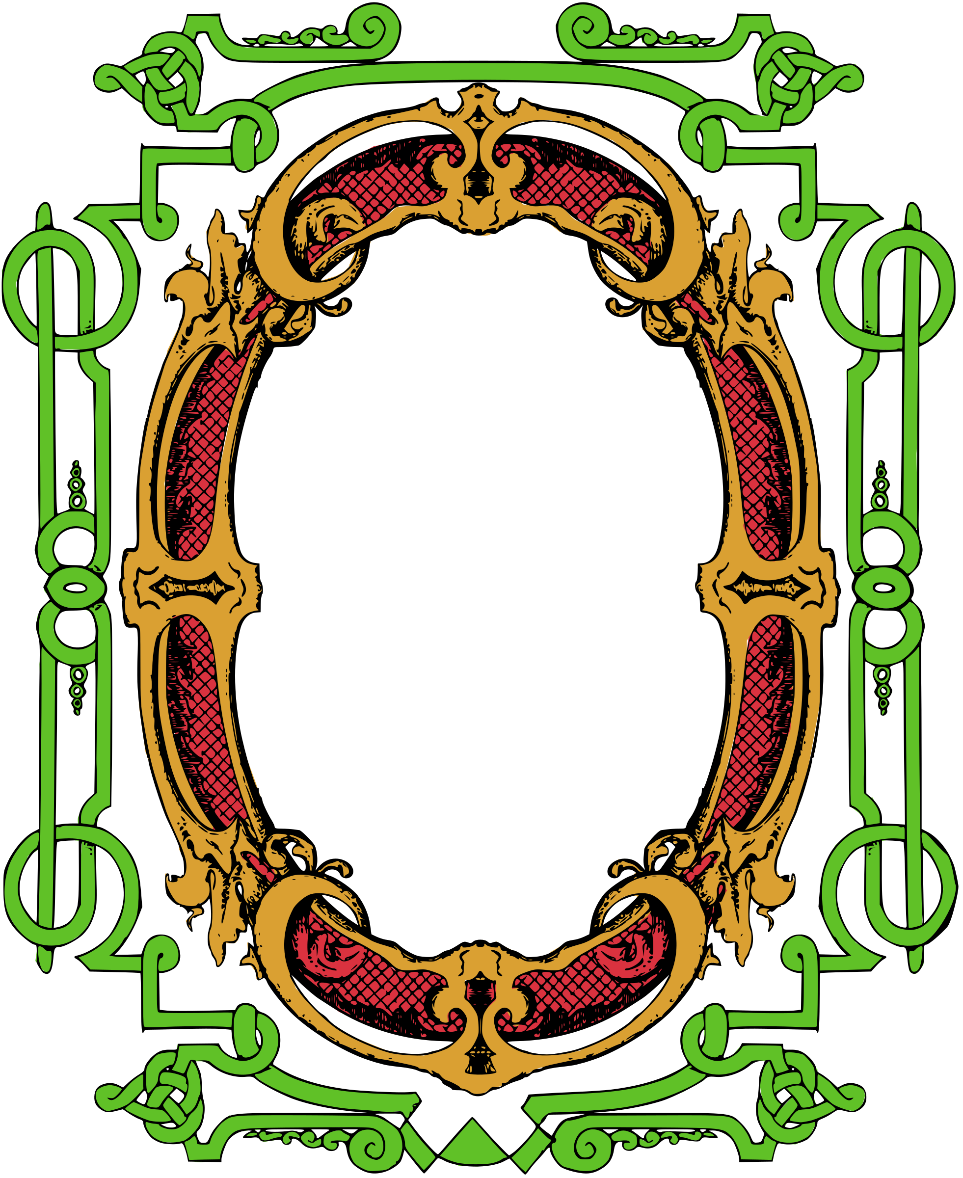Circle Ornate Frame - Colour Remix by j4p4n