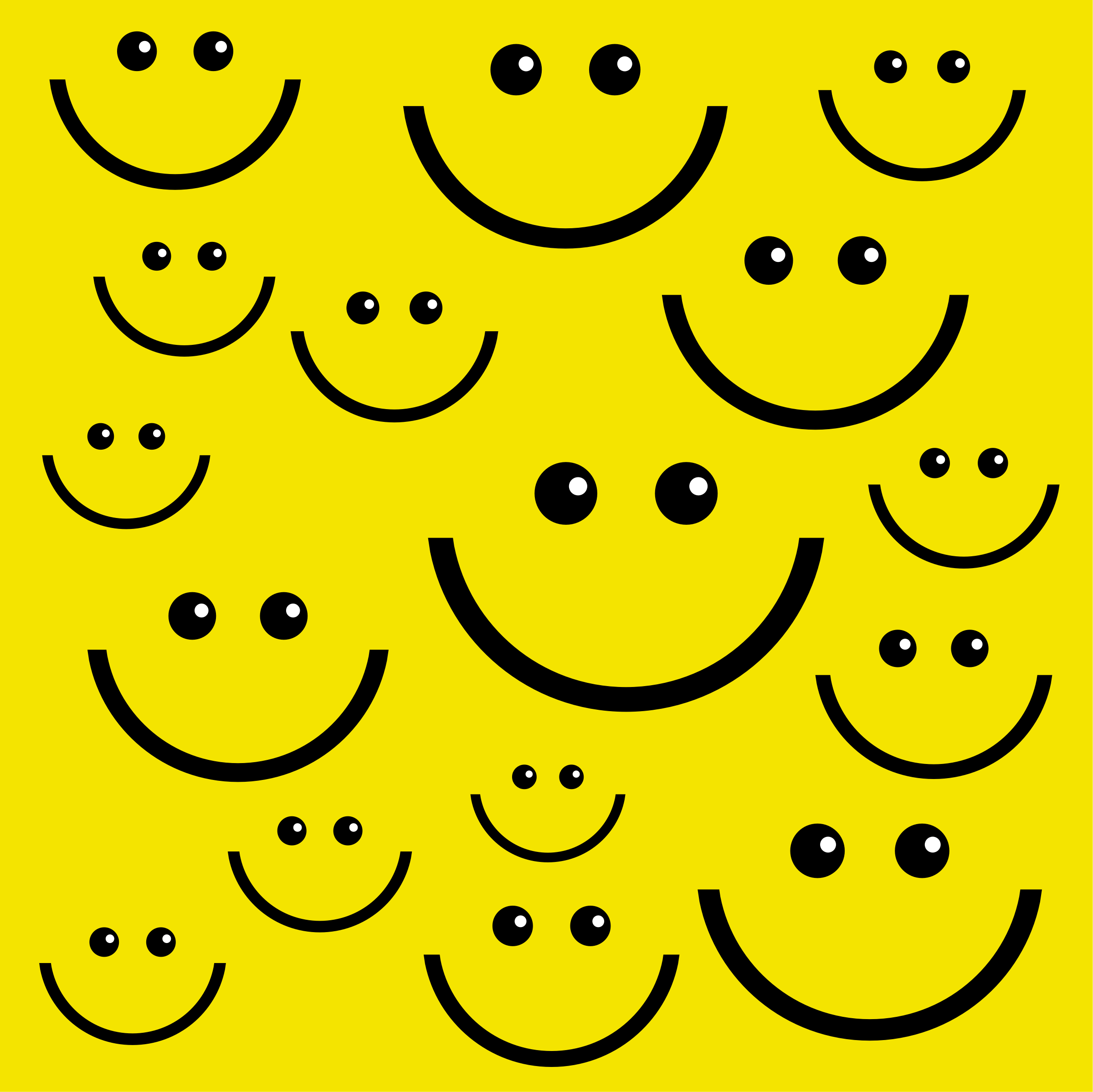 Smiley Face Background by Prawny