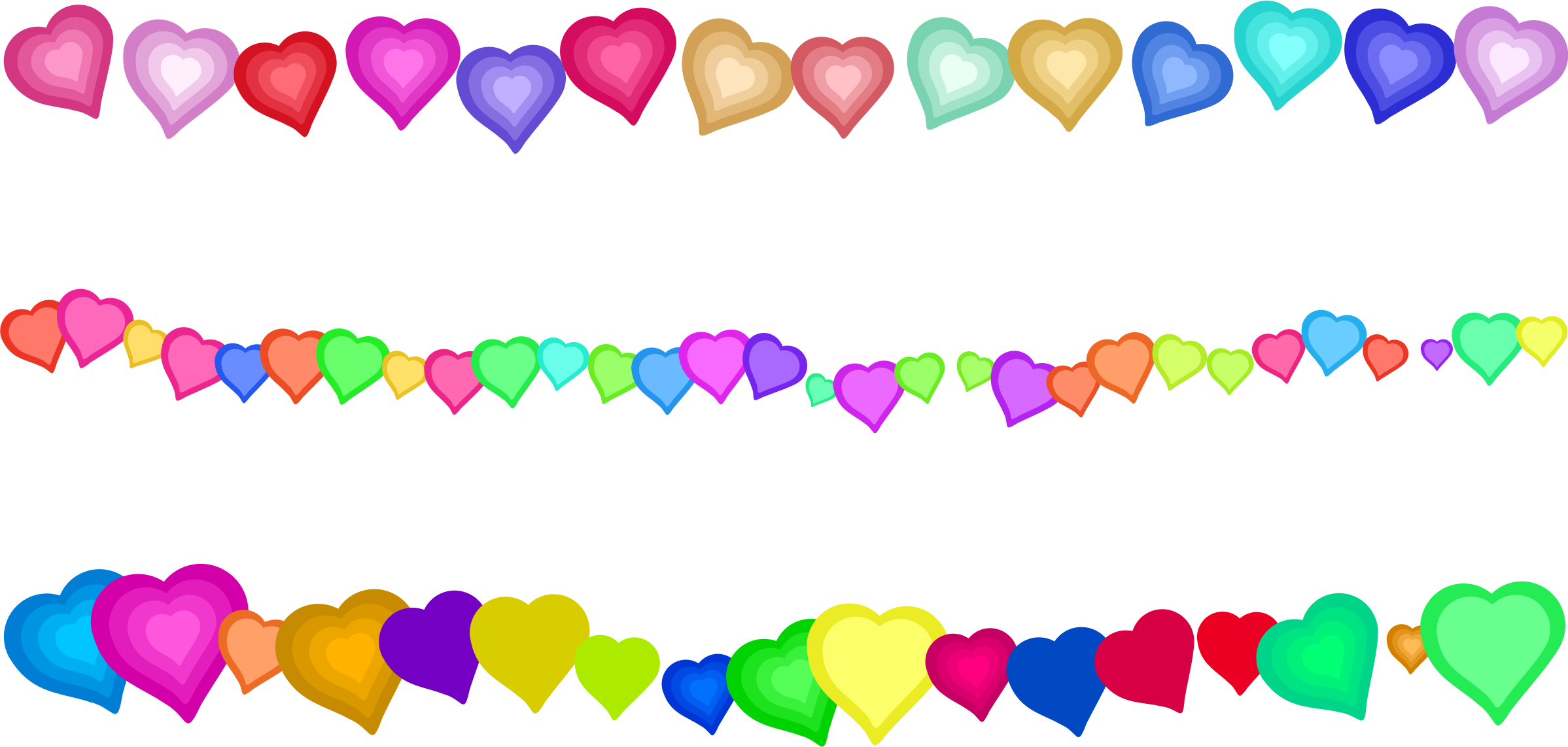 2397 x 1142 png 276kB, Heart Page Border Decorations by Prawny