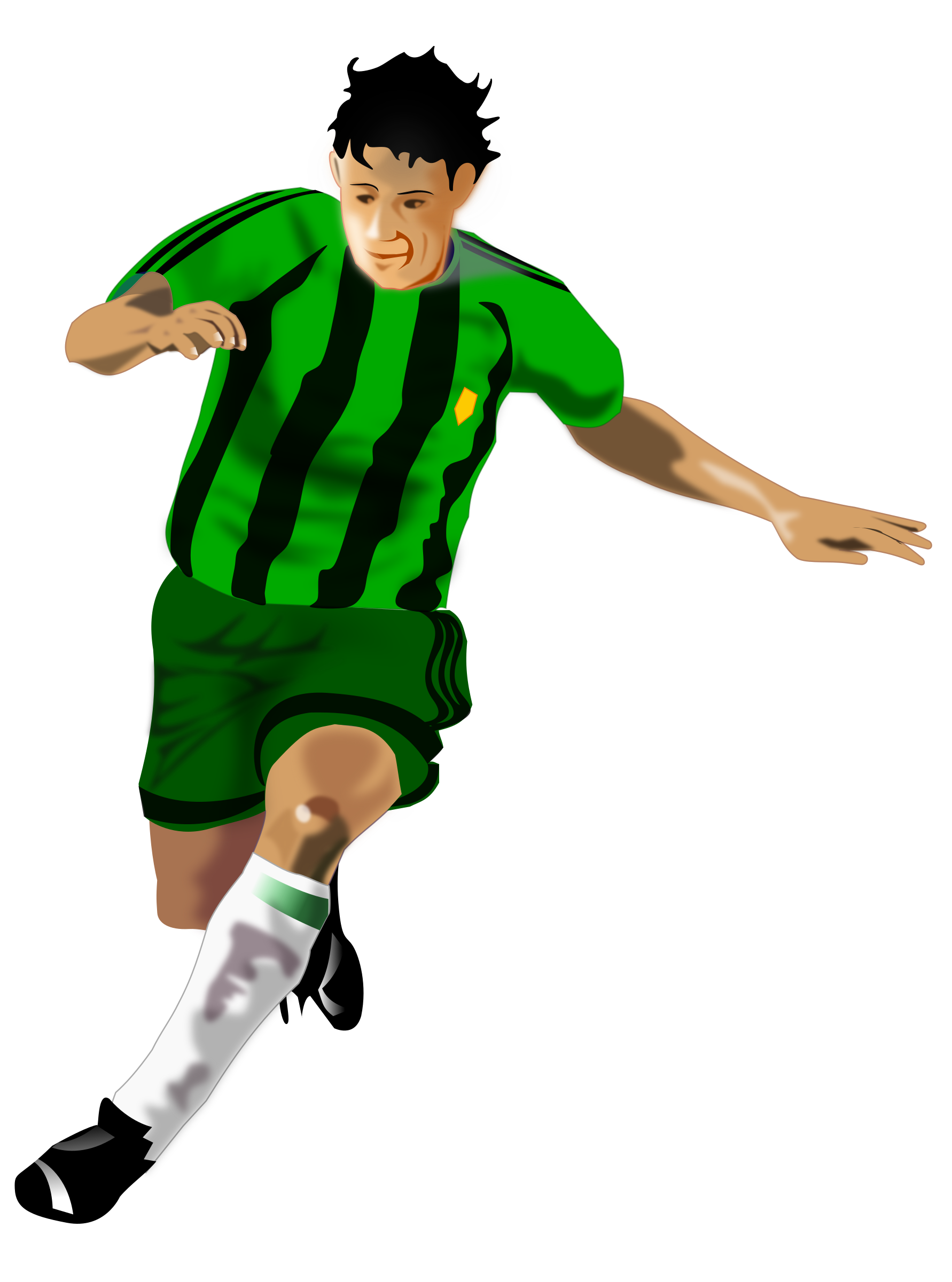 Soccer Player (Green/Black) by Alessio