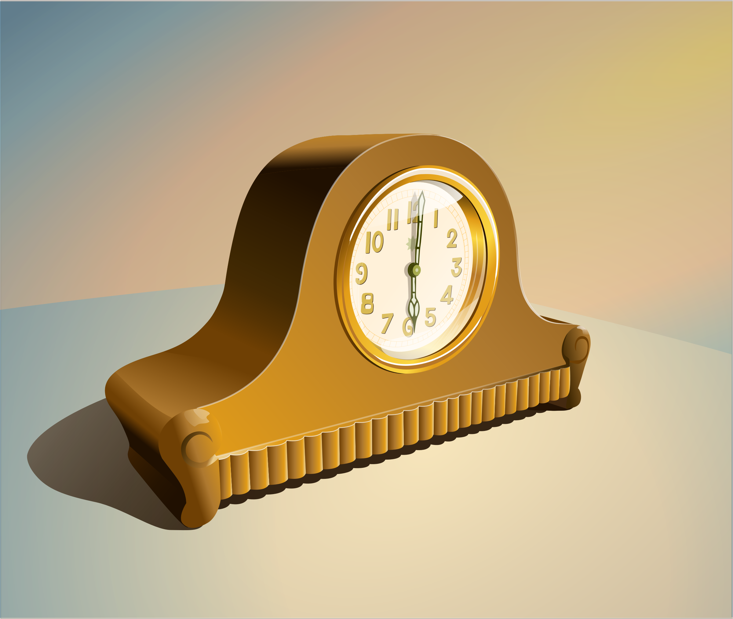 Vintage clock by lekamie