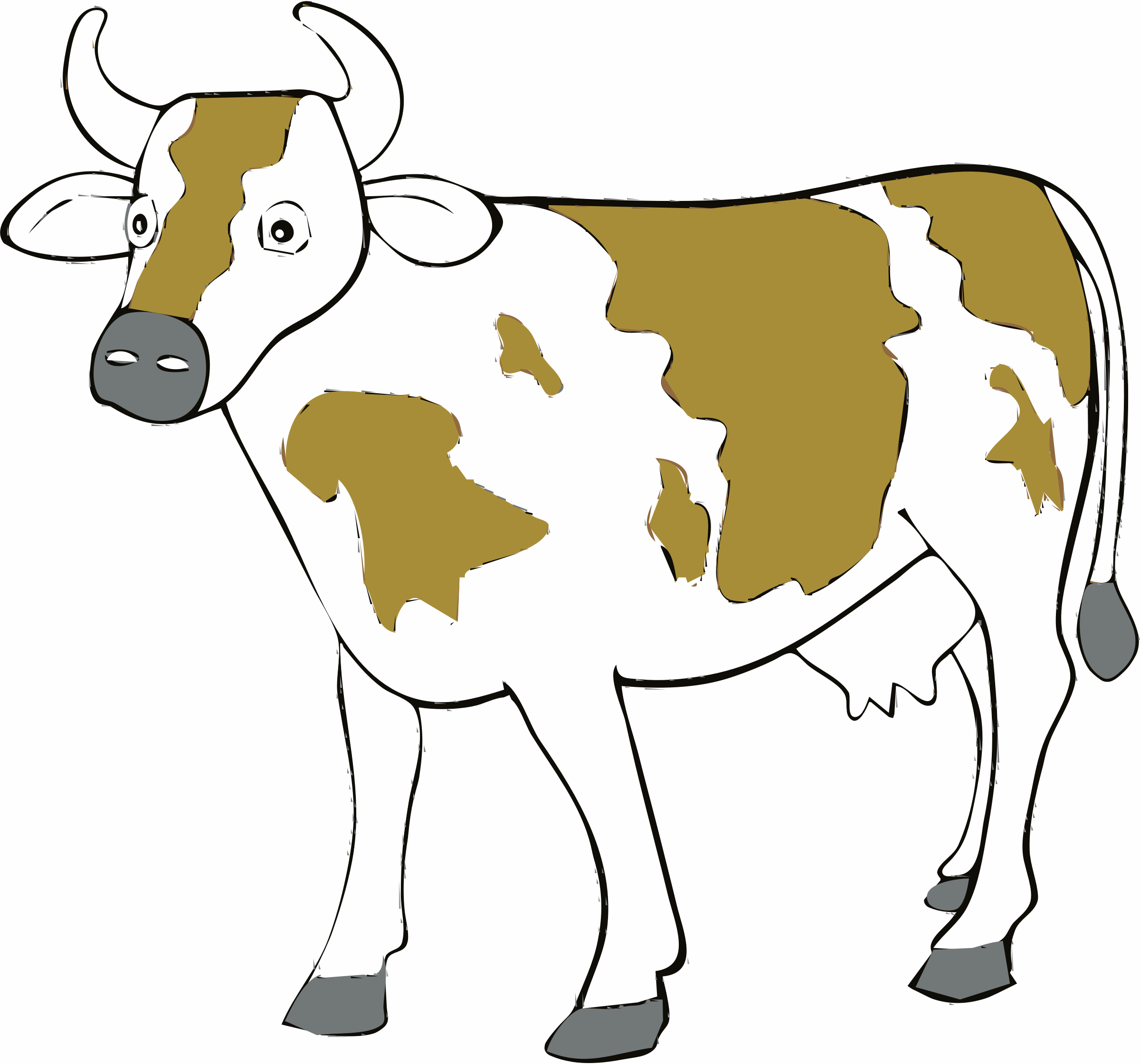clipart cow rh openclipart org free clipart cartoon cows